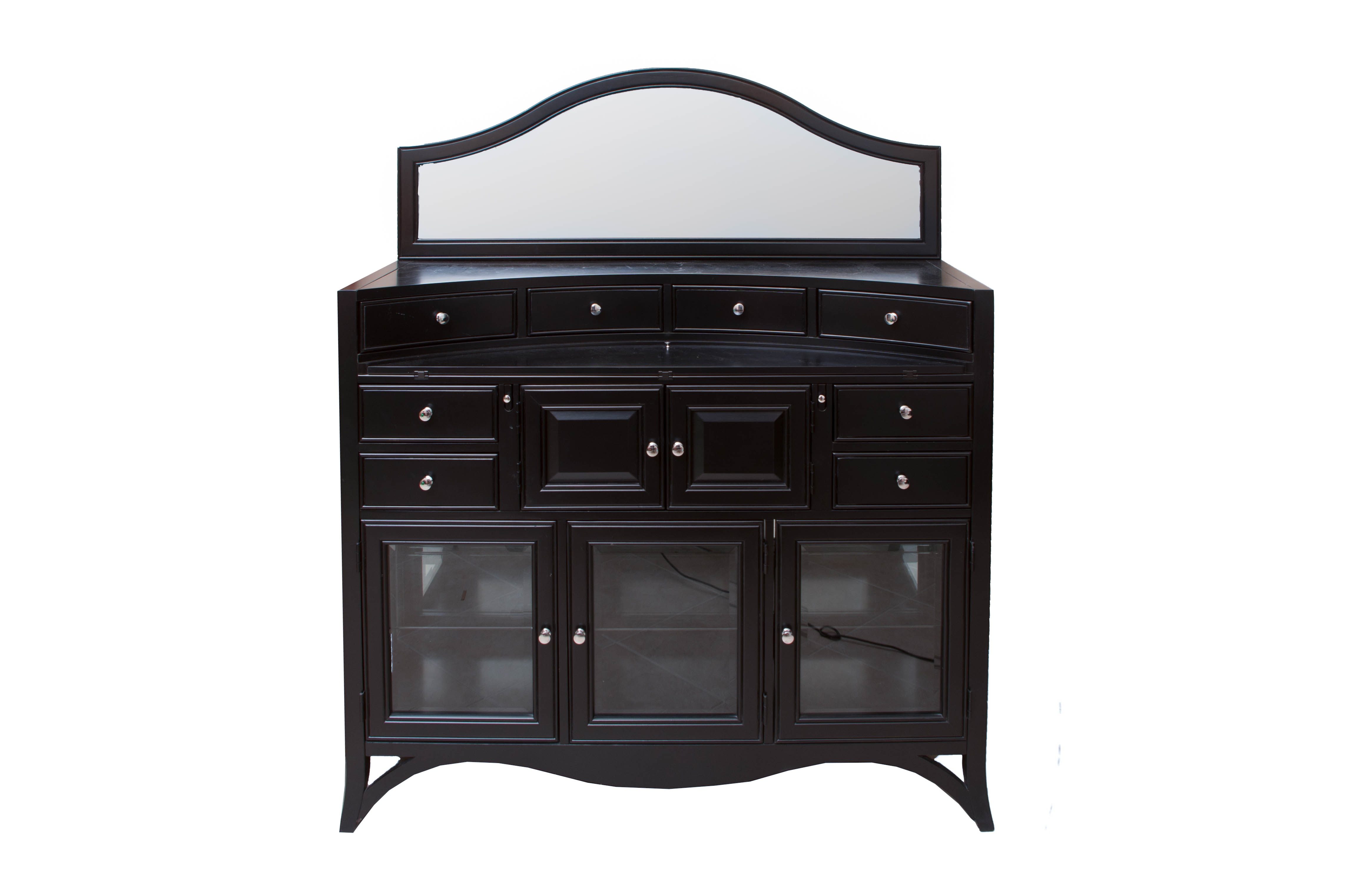 Black Finished Sideboard and Mirror from American Signature