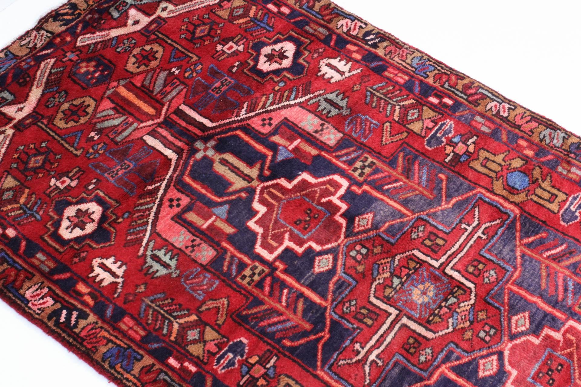 3 X 10 Semi Antique Hand Knotted Persian Heriz Karaja