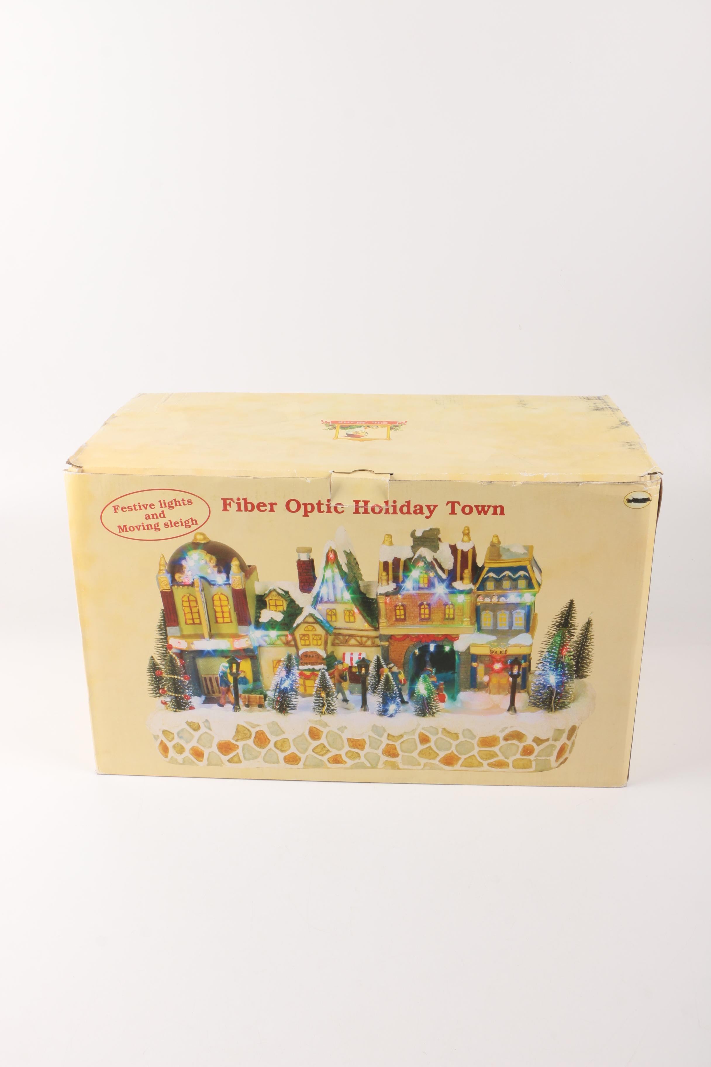 Old World Fiber Optic Holiday Town