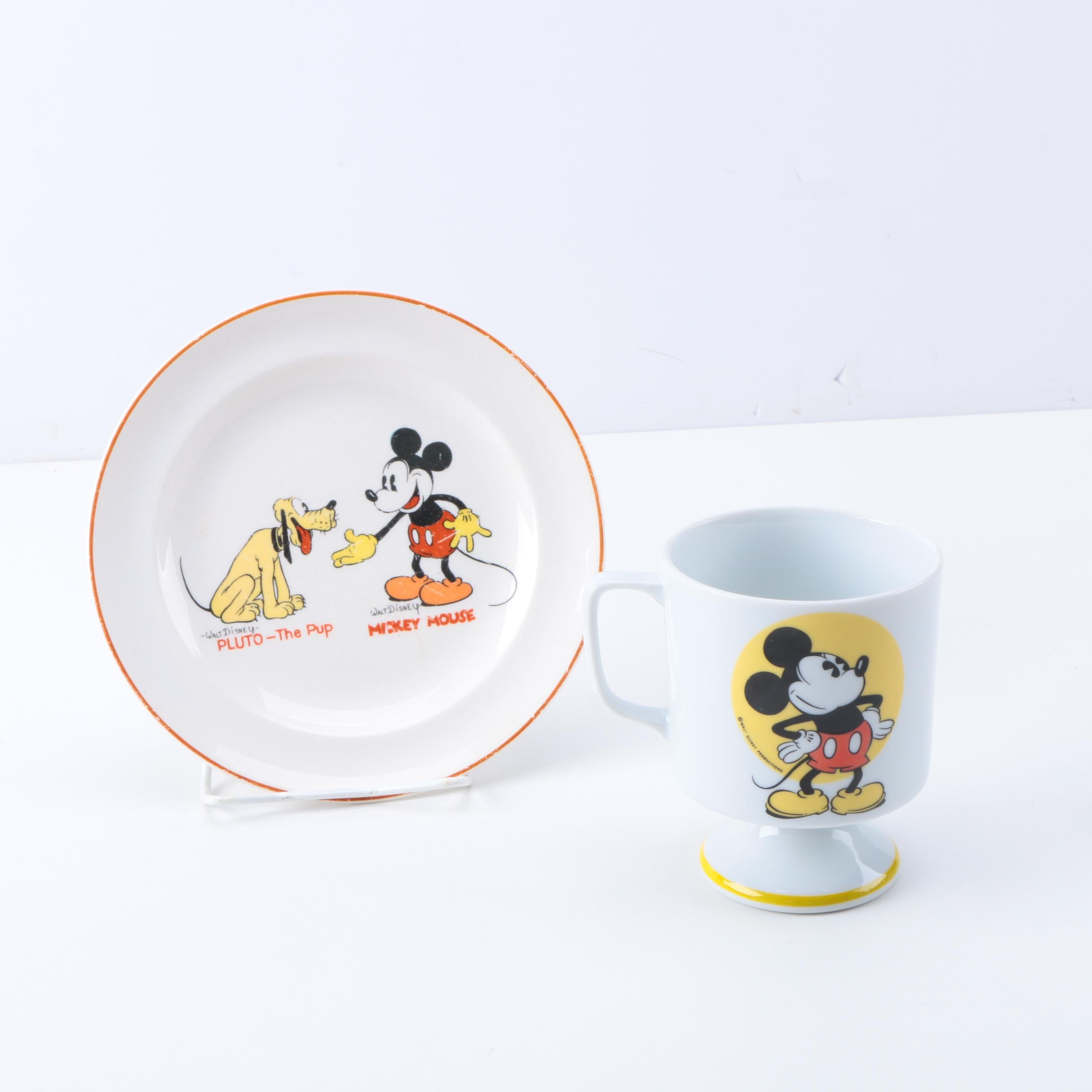 Mickey Mouse Cup and Plate