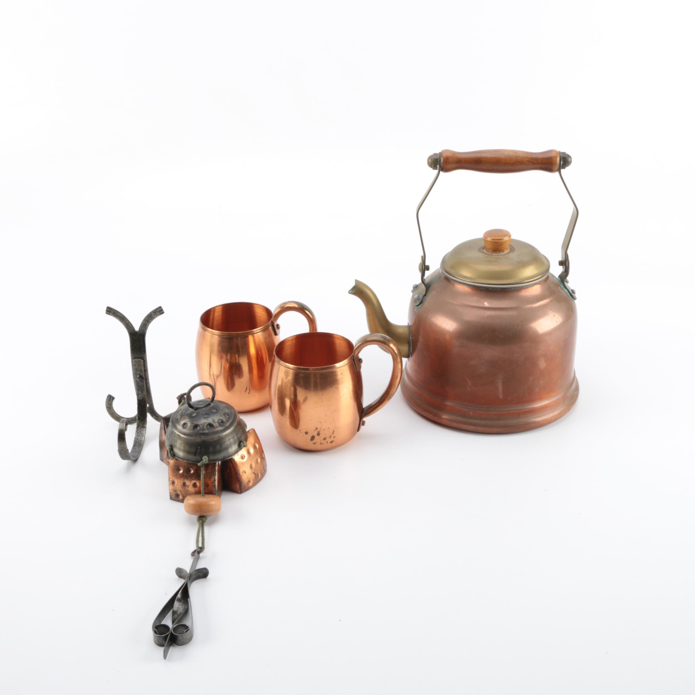 Selection of Vintage Copper Kitchen Utensils