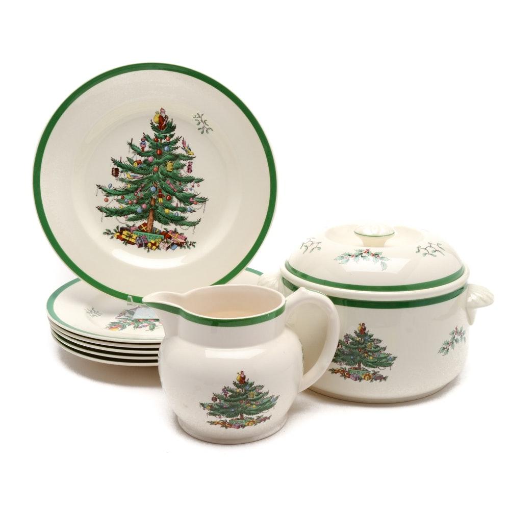 Spode  Christmas Tree  Dinner Plates Casserole Dish ...  sc 1 st  EBTH.com & Spode