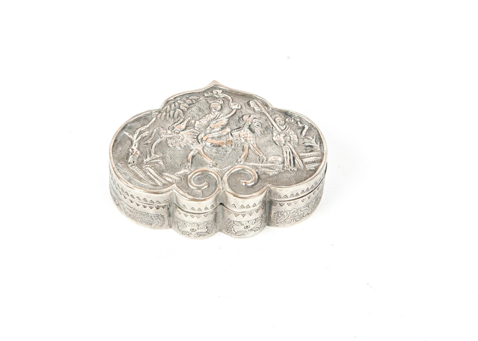 Vintage Silver Plate Trinket Box