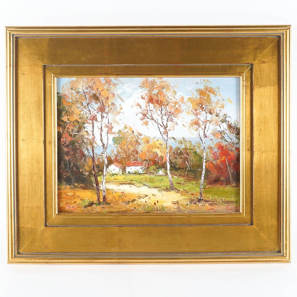 Kerr Oil Painting of an Autumnal Landscape