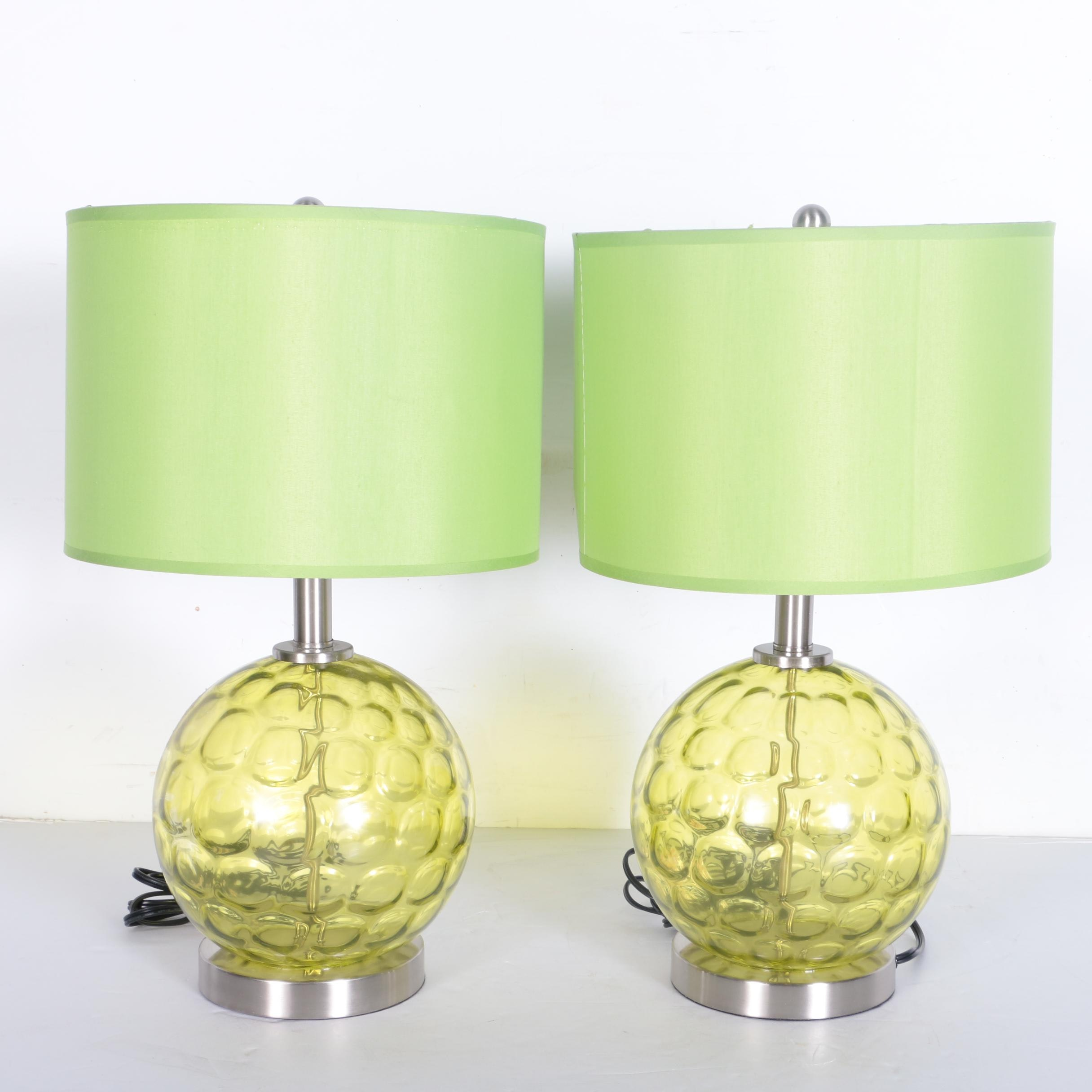 Green Bubble Glass Table Lamps Ebth