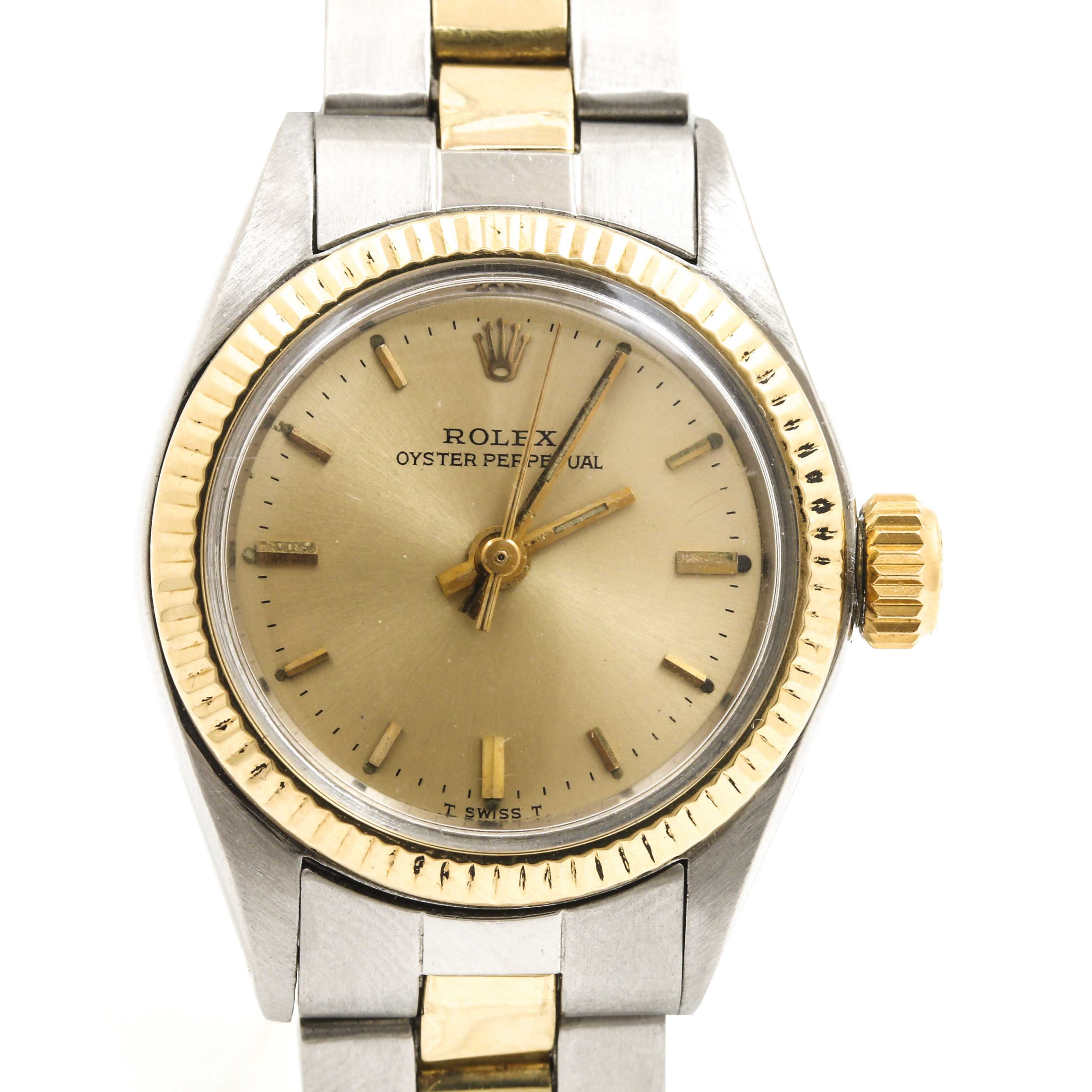 Rolex 14K Yellow Gold and Stainless Steel Wristwatch