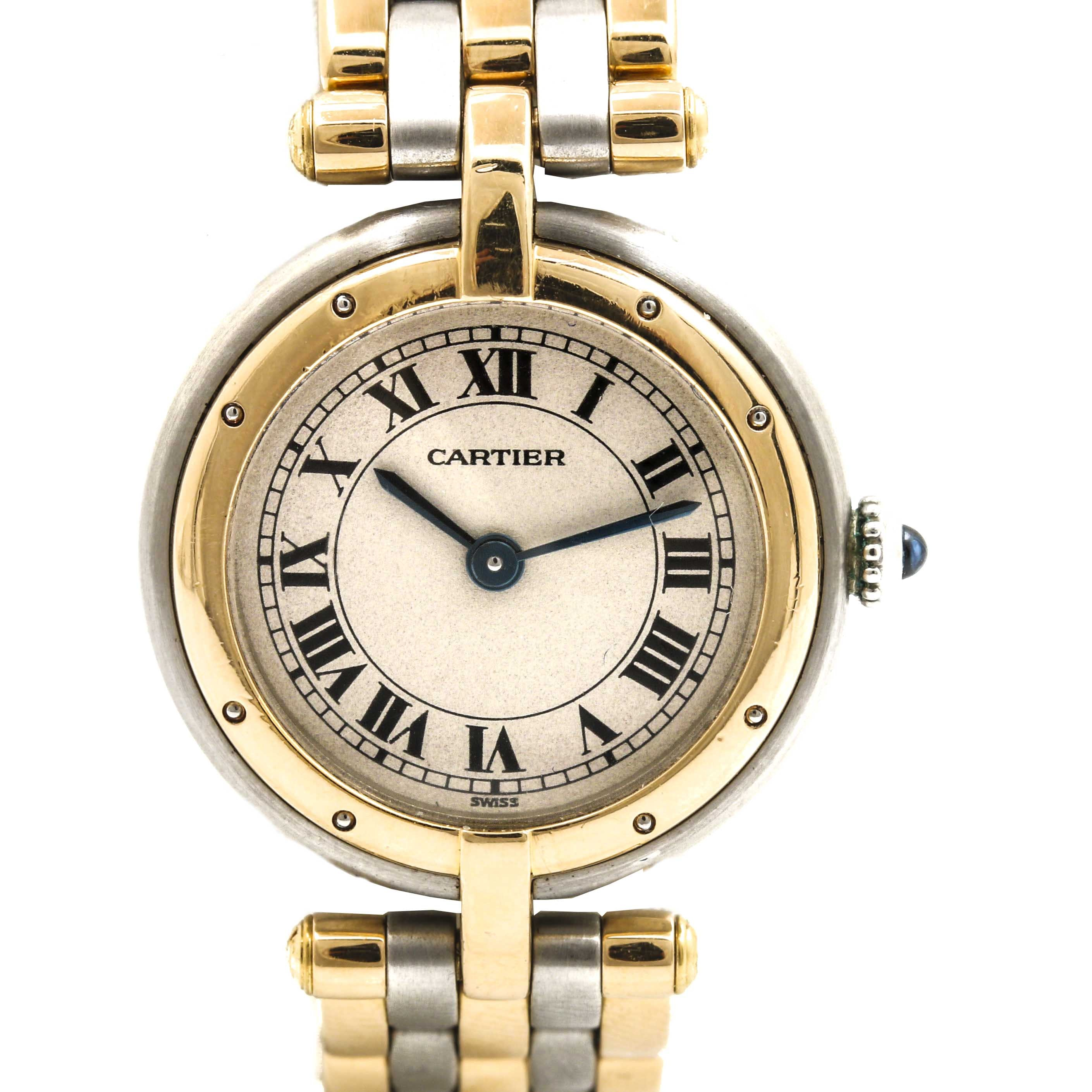 Cartier 18K Yellow Gold and Stainless Steel Wristwatch