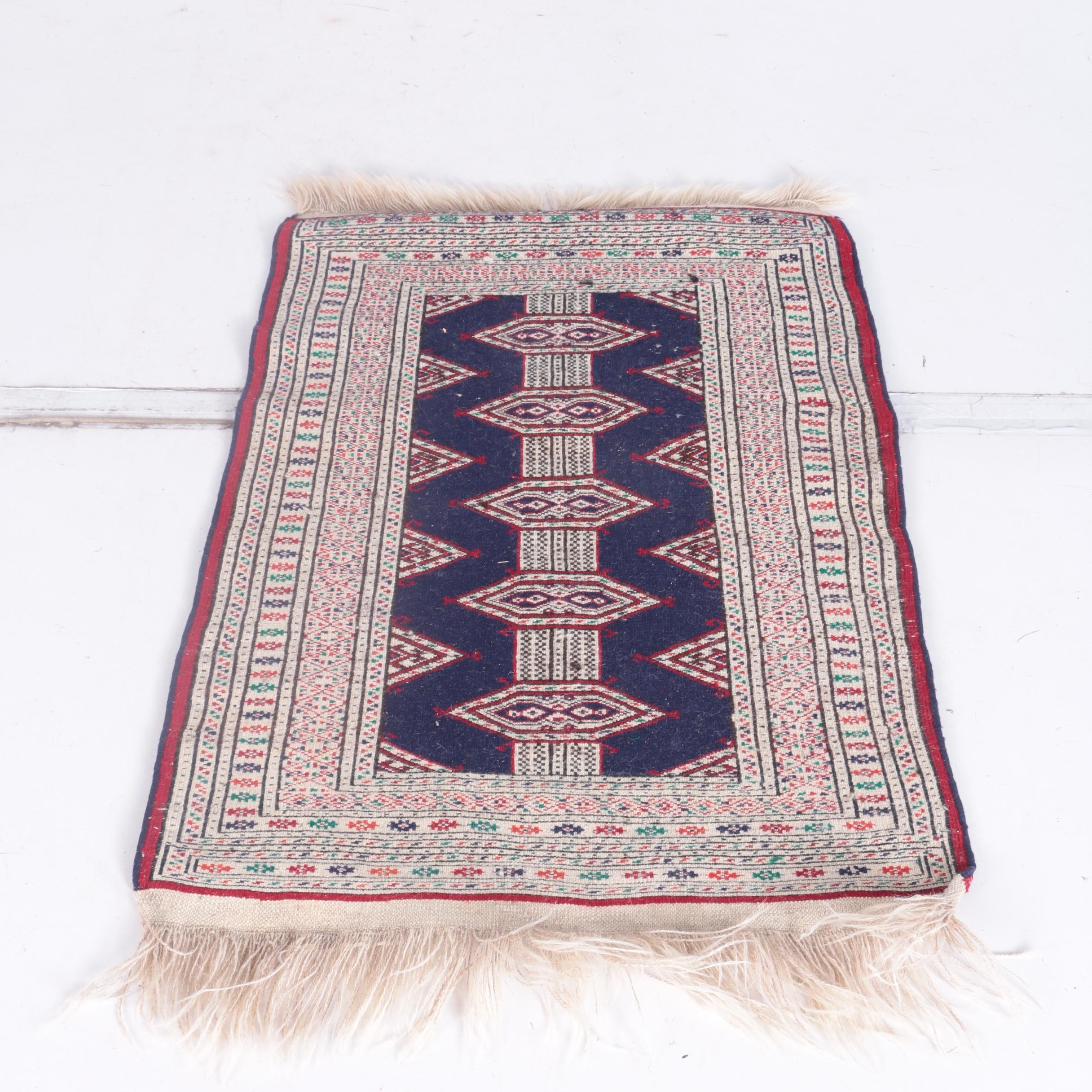 Hand-Knotted Jaldar Bokhara Accent Rug