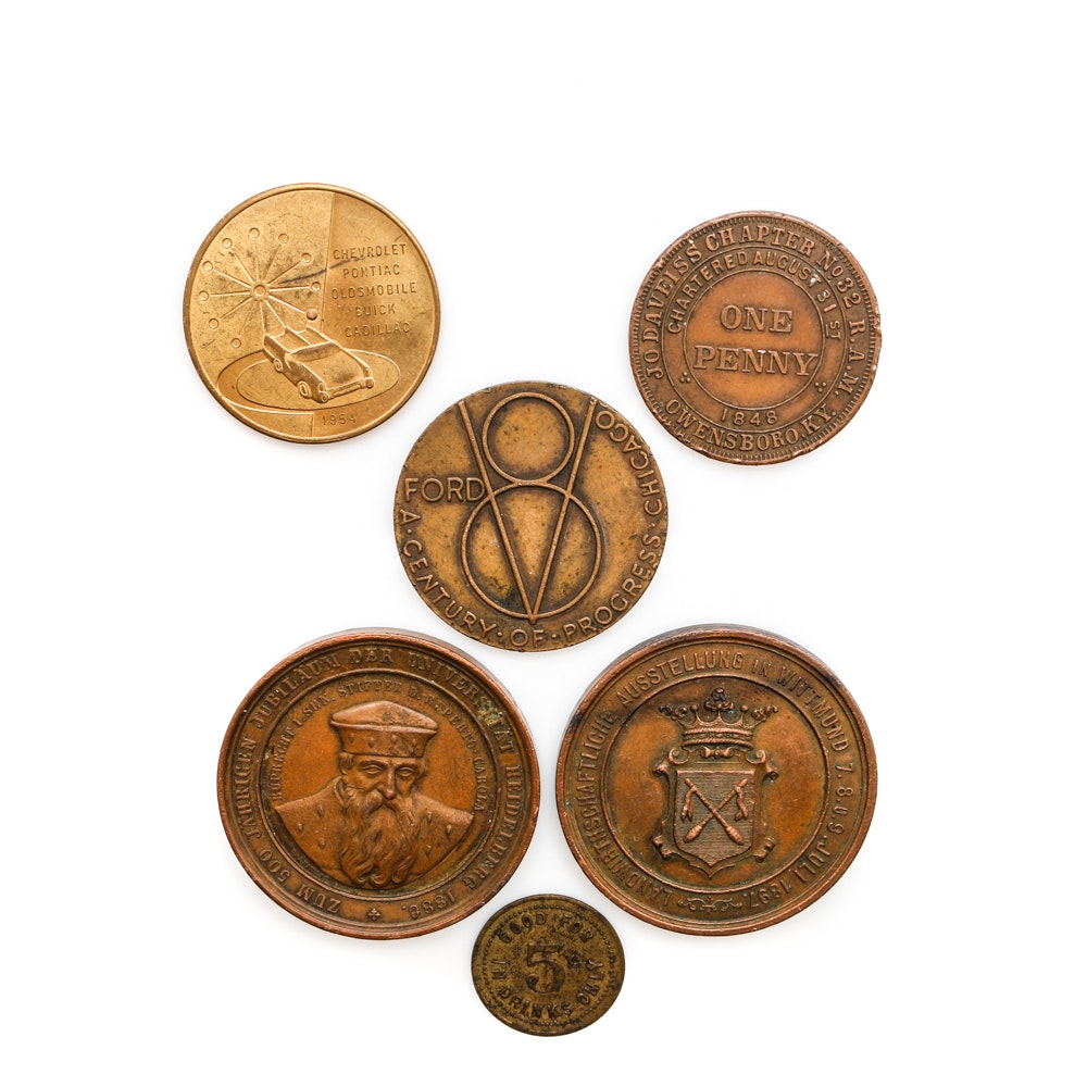 Antique and Vintage Medallions and Tokens