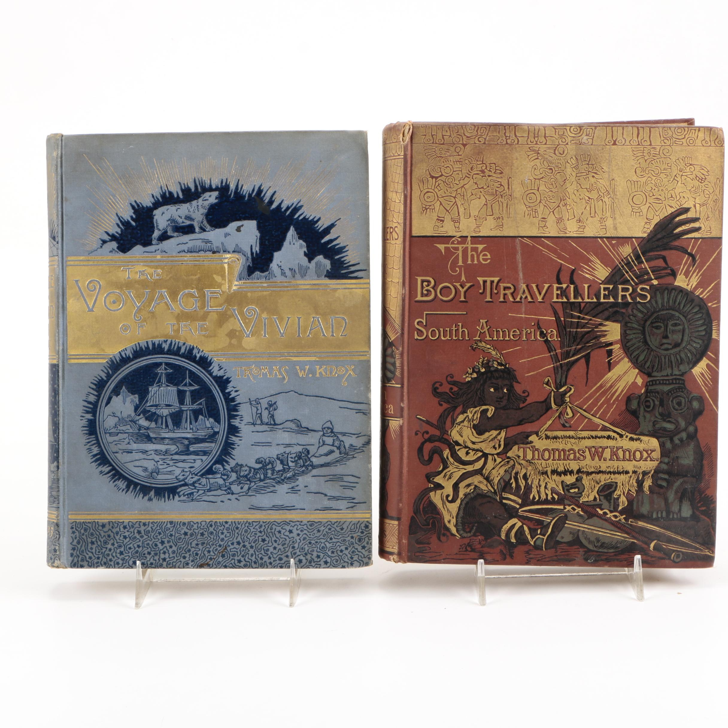 """1885 """"The Voyage of the Vivian"""" and 1886 """"The Boy Travellers in South America"""""""
