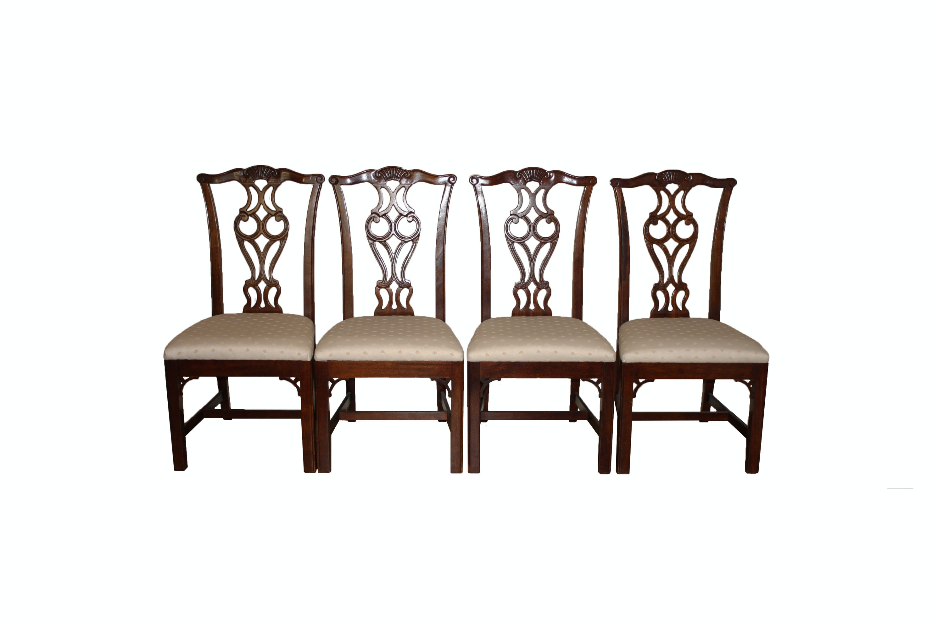 Set of Four Chippendale Style Dining Chairs