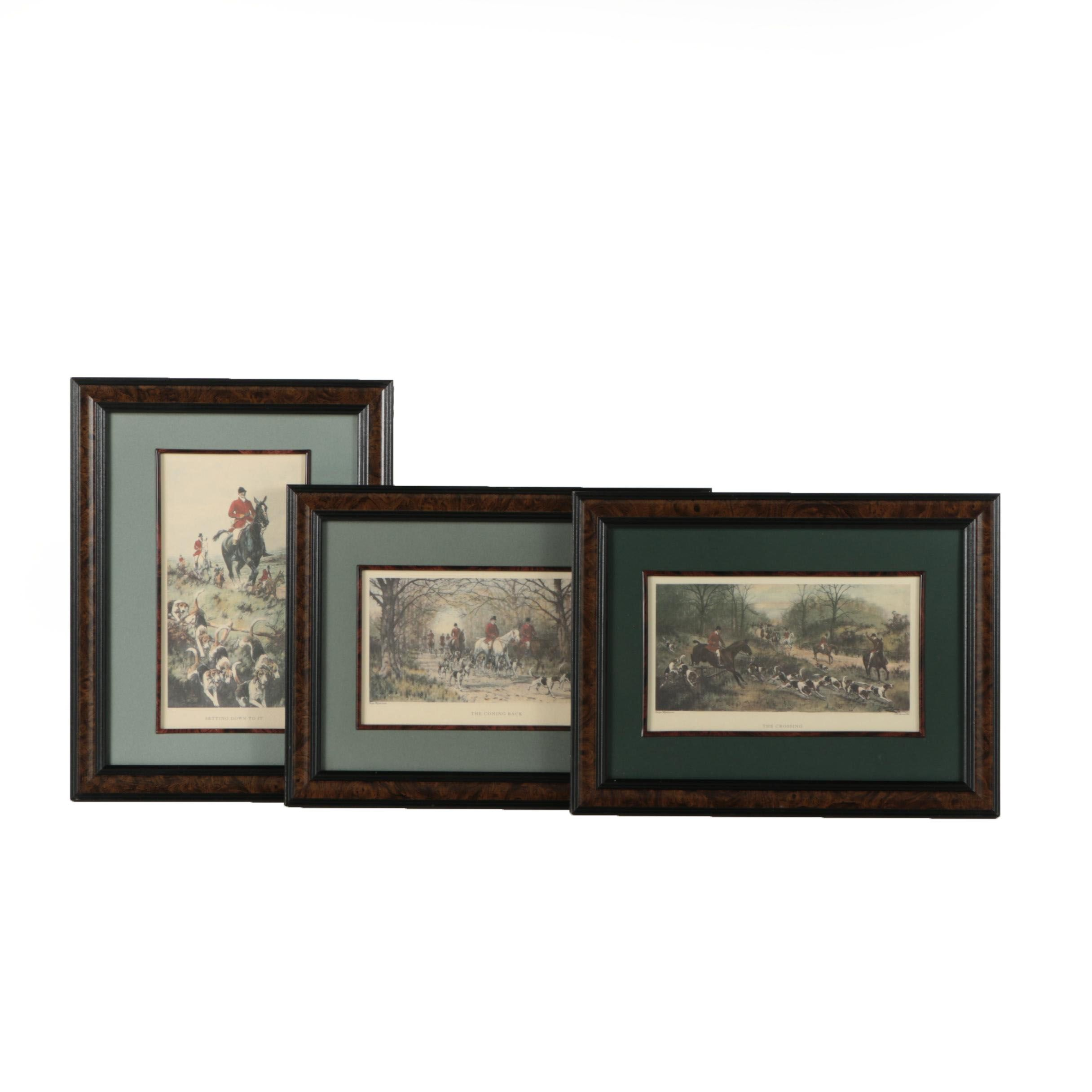 Offset Lithographs After George Wright Artwork of Hunting Scenes