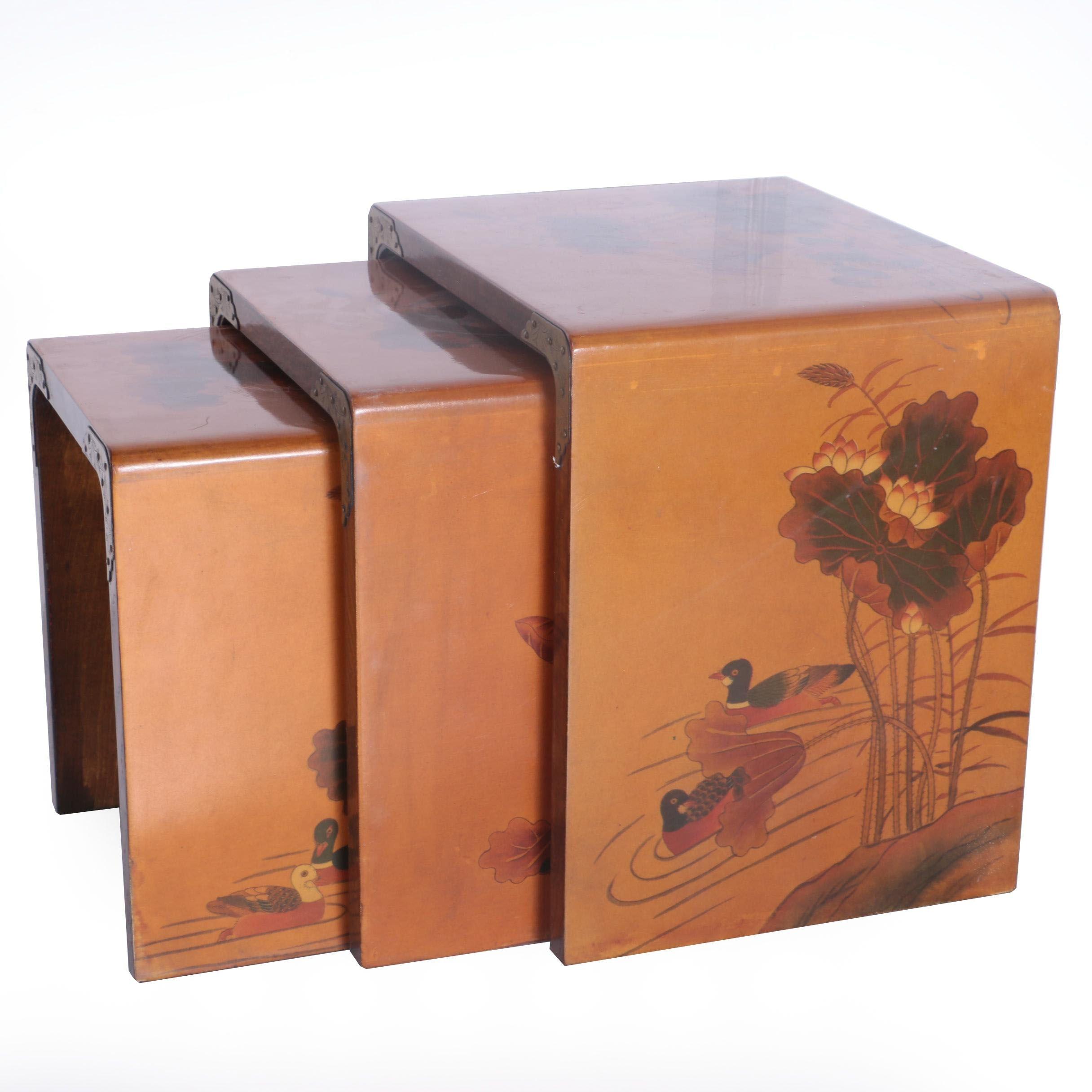 Asian Inspired Nesting Tables