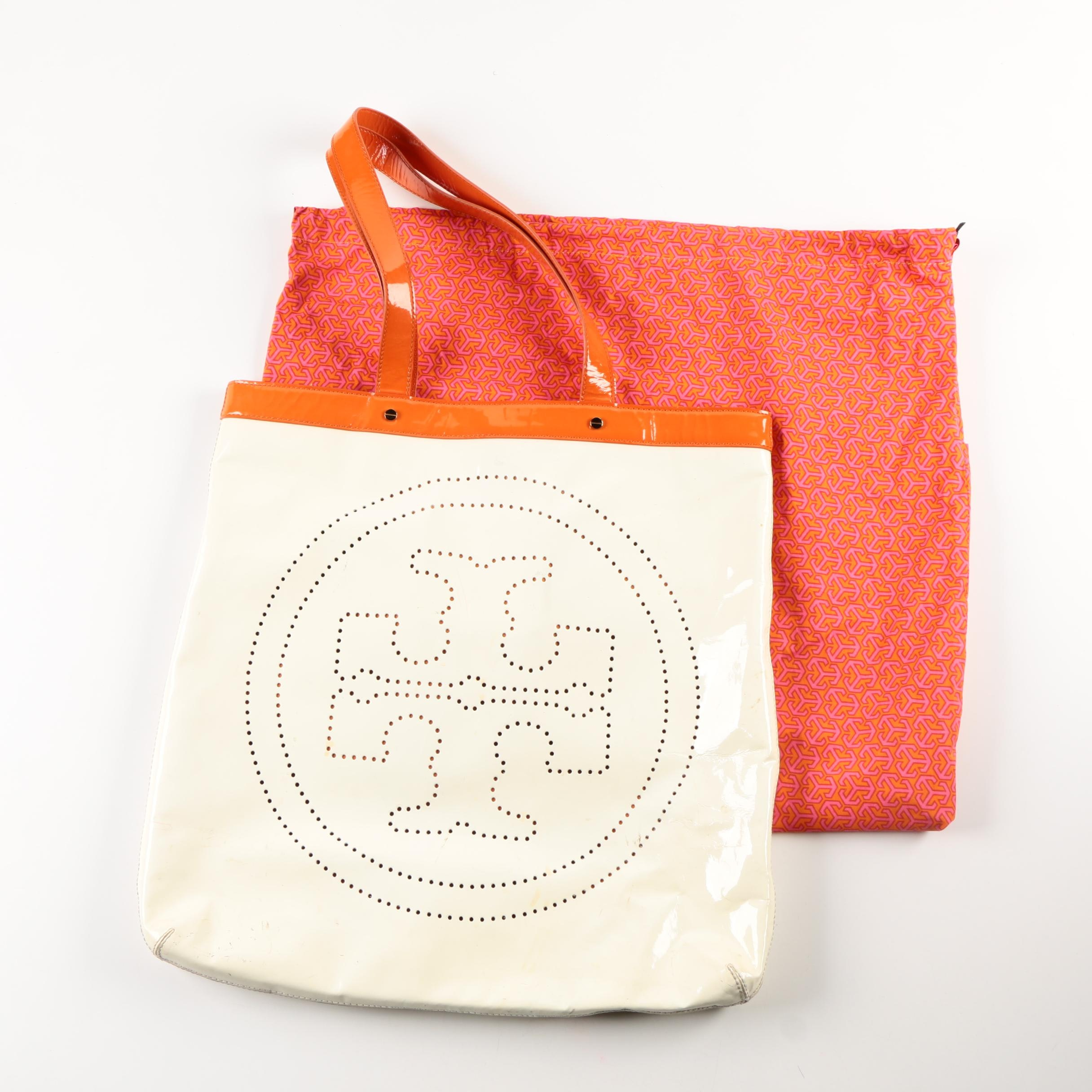 Tory Burch Patent Leather Tote Bag