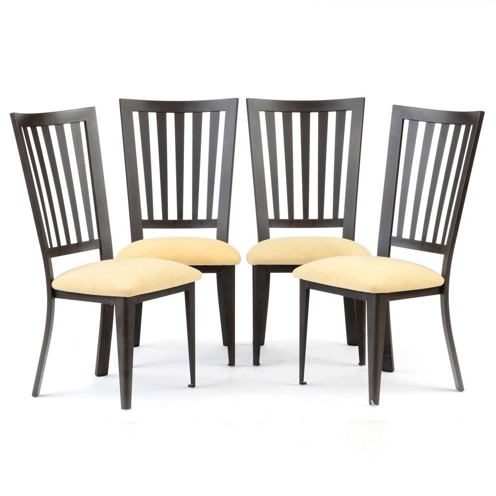 Four Contemporary Amisco Metal Chairs