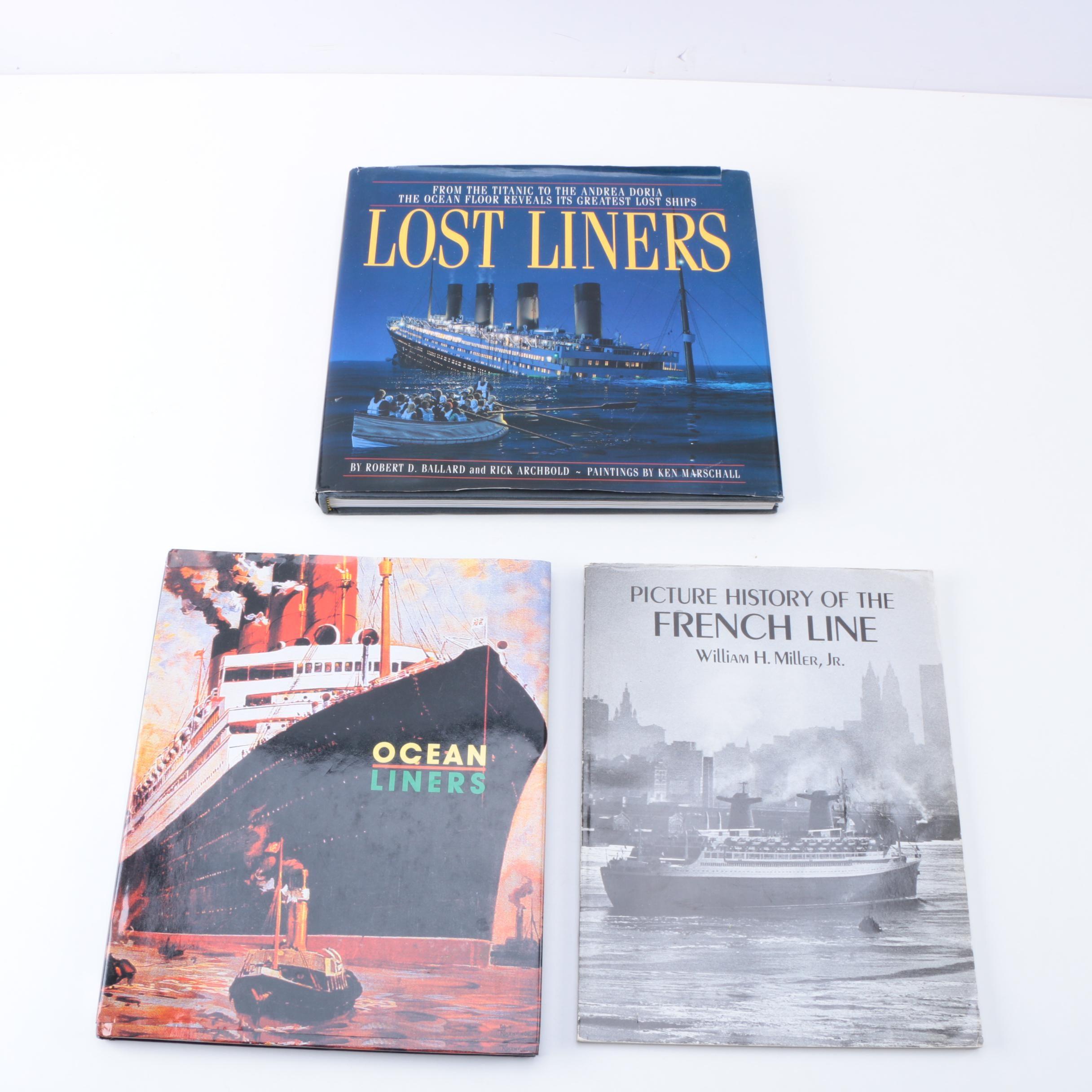 Three Books on Ocean Liners