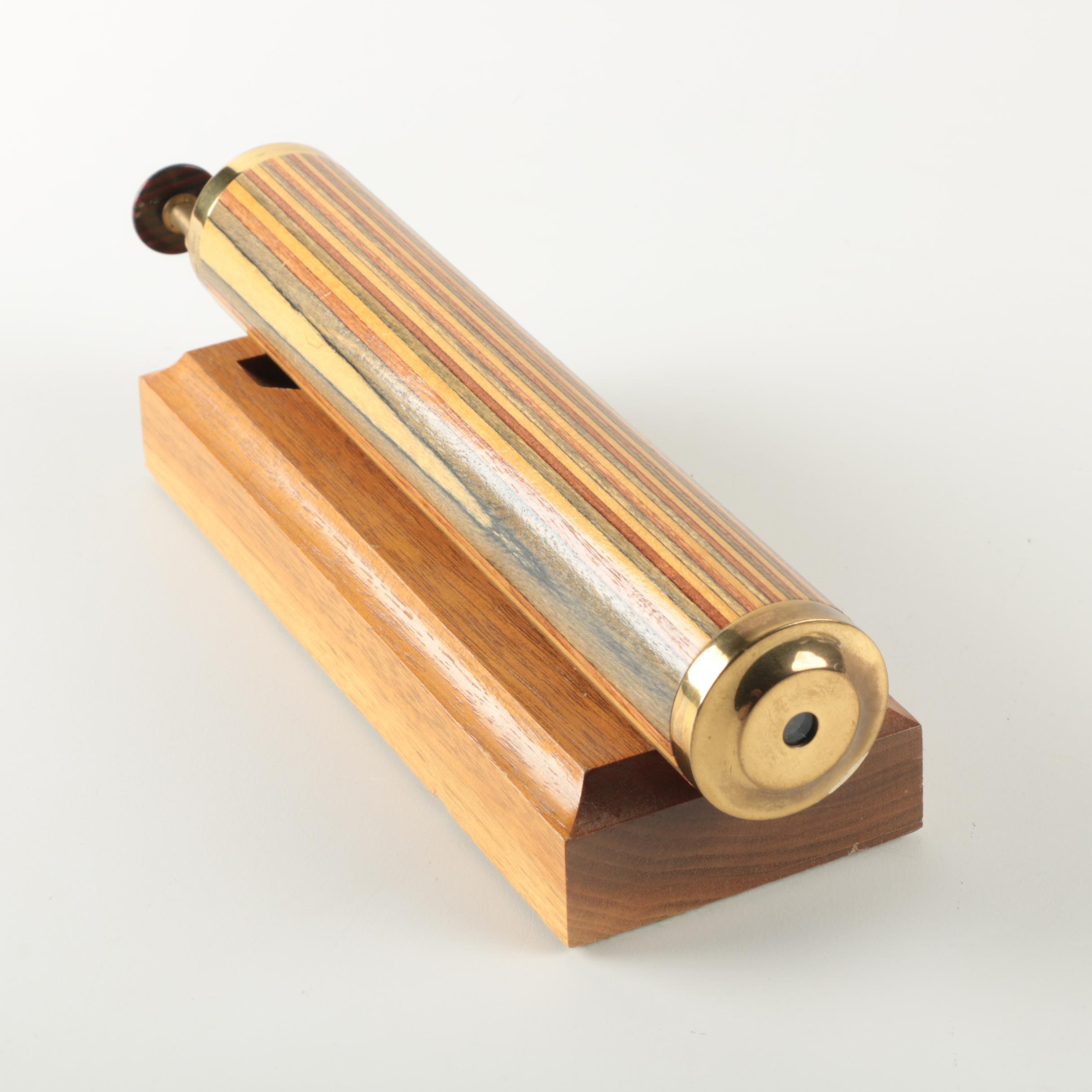 Van Cort Brass and Wood Tone Kaleidoscope