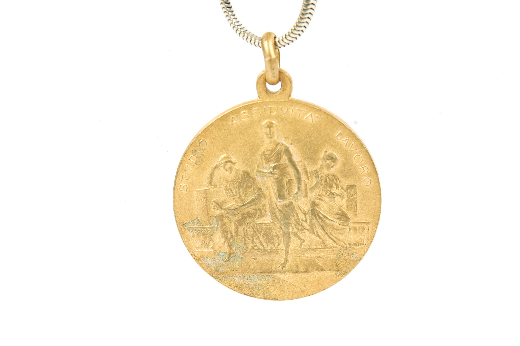 Gold Wash Coin Pendant Necklace