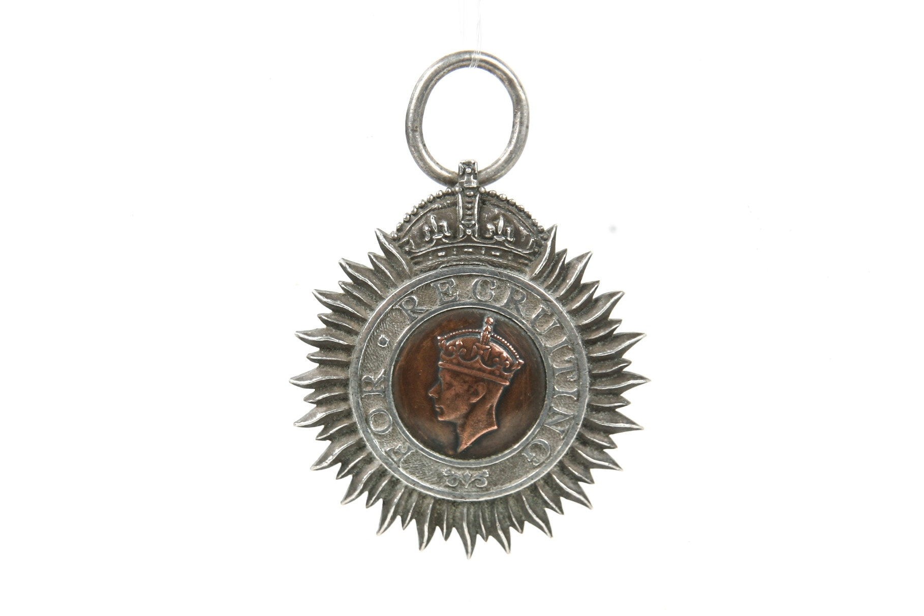 George VI Indian Recruiting Silver Badge