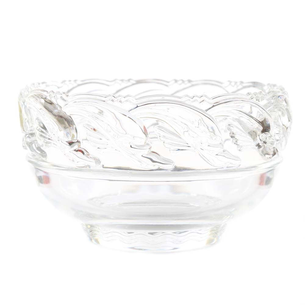 "Tiffany & Co. ""Dolphin"" Crystal Bowl"