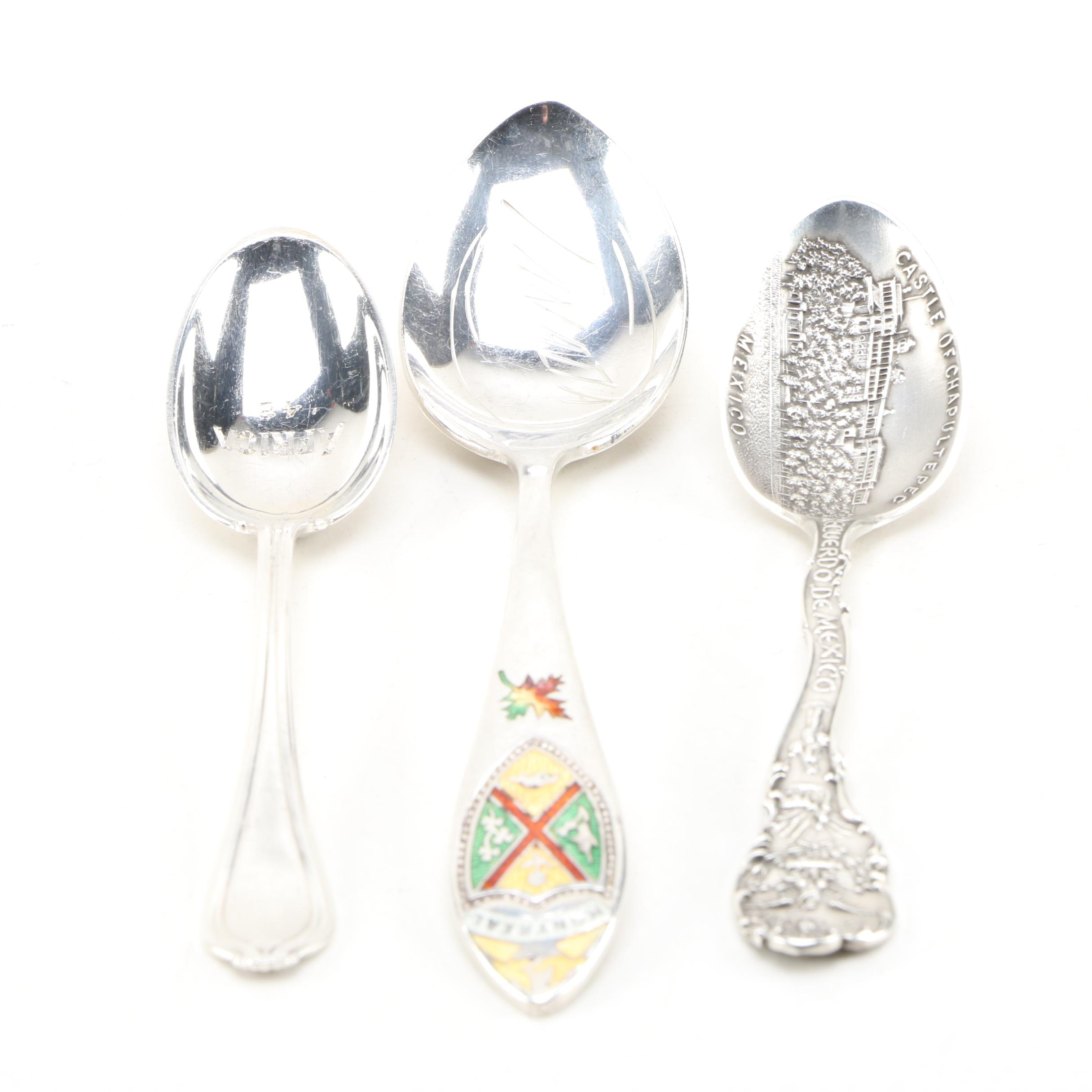 Shepard Manufacturing Co. and Other Sterling Silver Souvenir Spoons