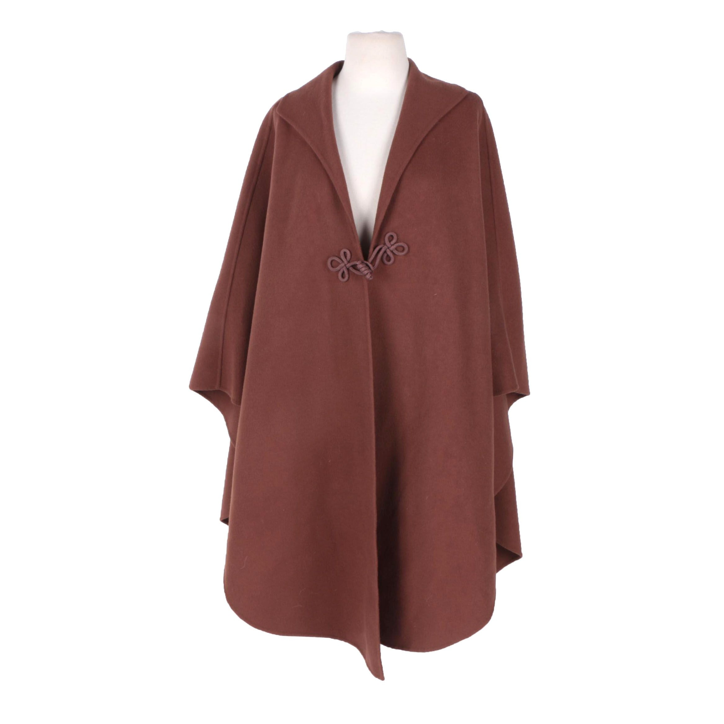 Salvatore Ferragamo Wool Cape