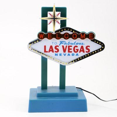 Table Top Illuminated Las Vegas Sign
