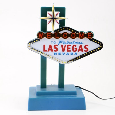 Table Top Illuminated Las Vegas Sign
