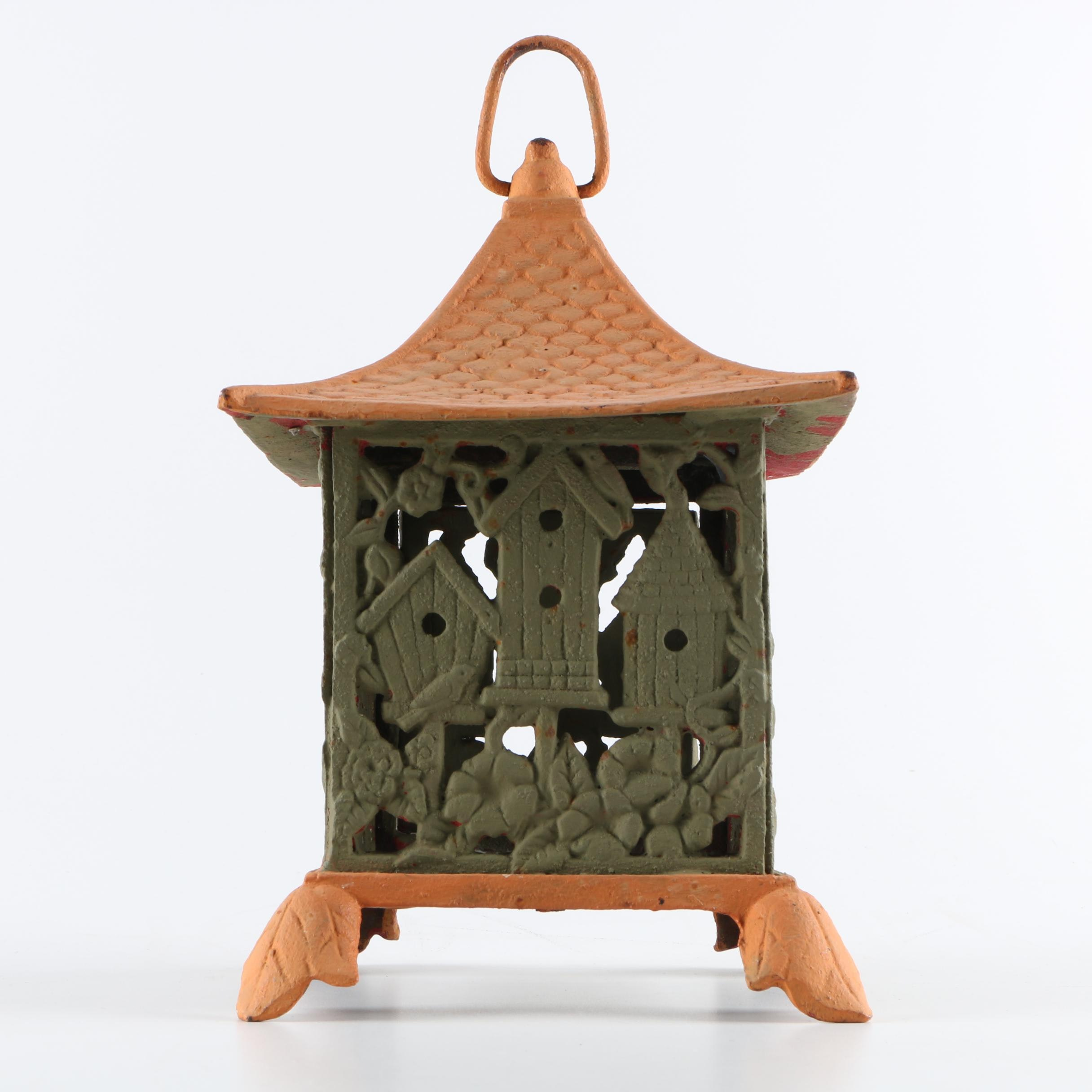 Painted Cast Iron Lantern