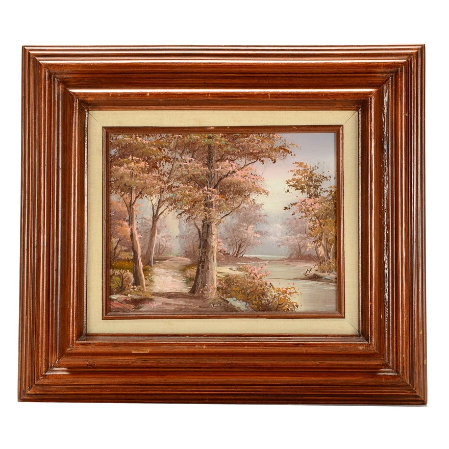 Landscape Oil Paintings Signed I Cafieri