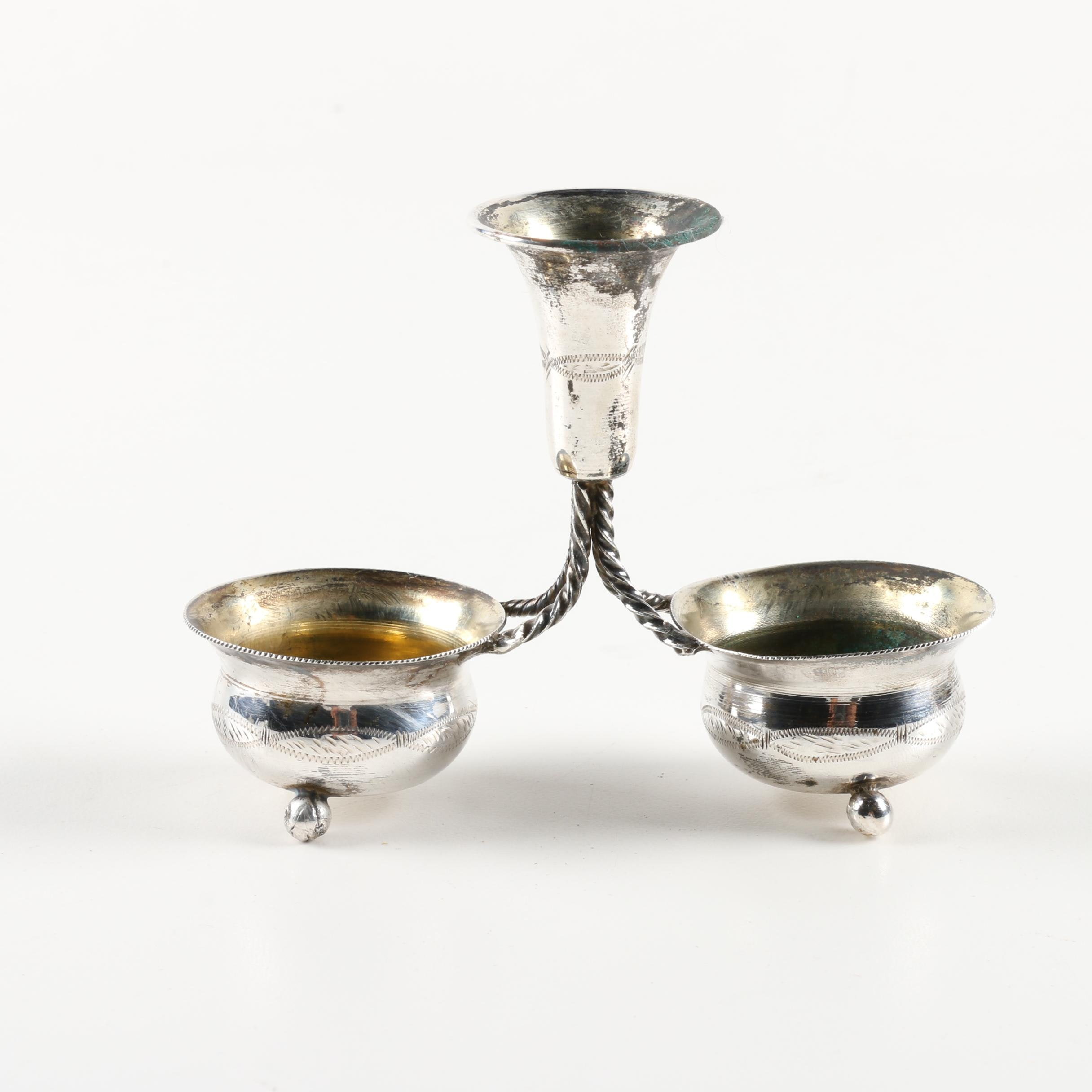 Israeli 840 Silver Condiment Holder