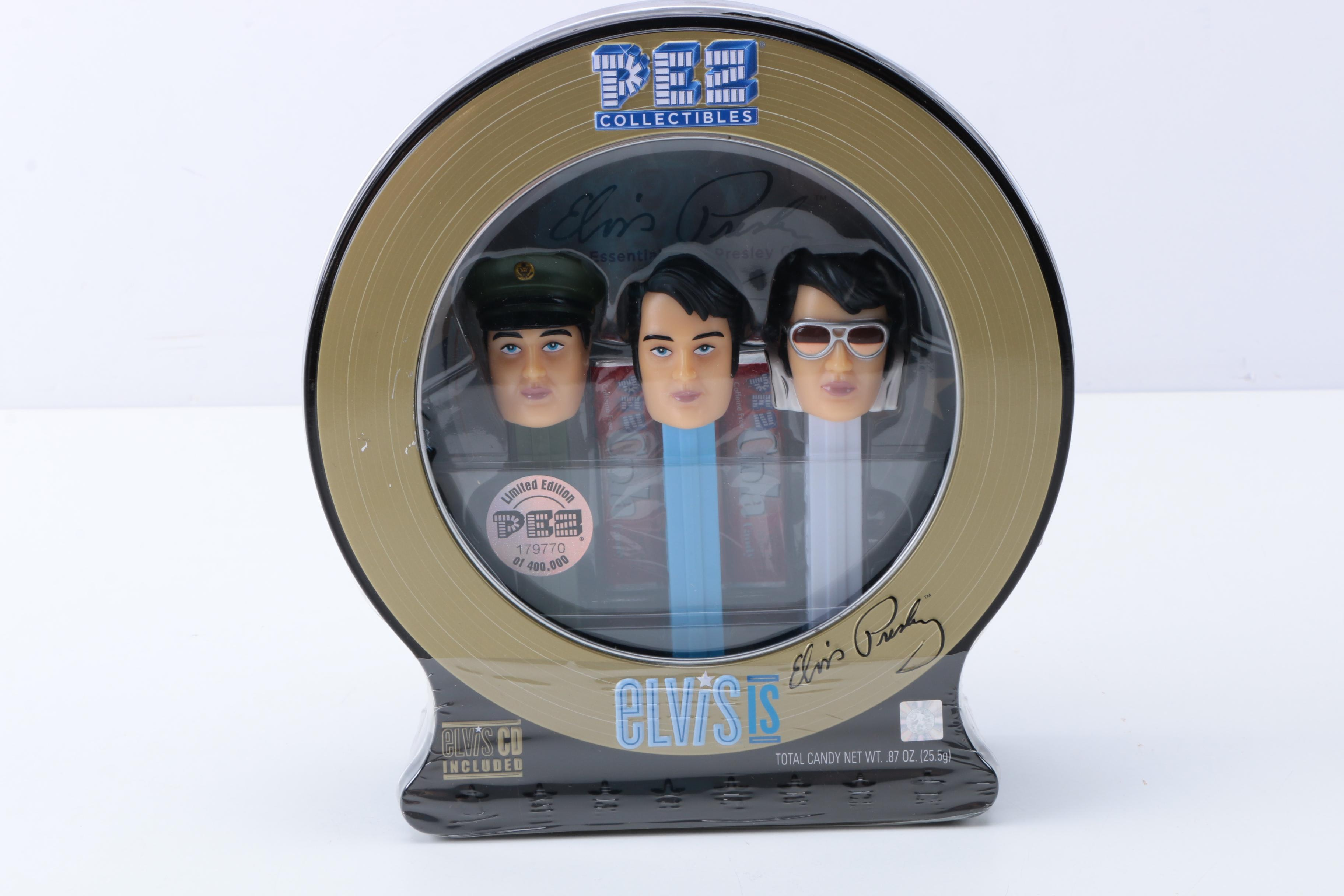 Set of Elvis Presley Limited Edition Collectors Pez Dispensers