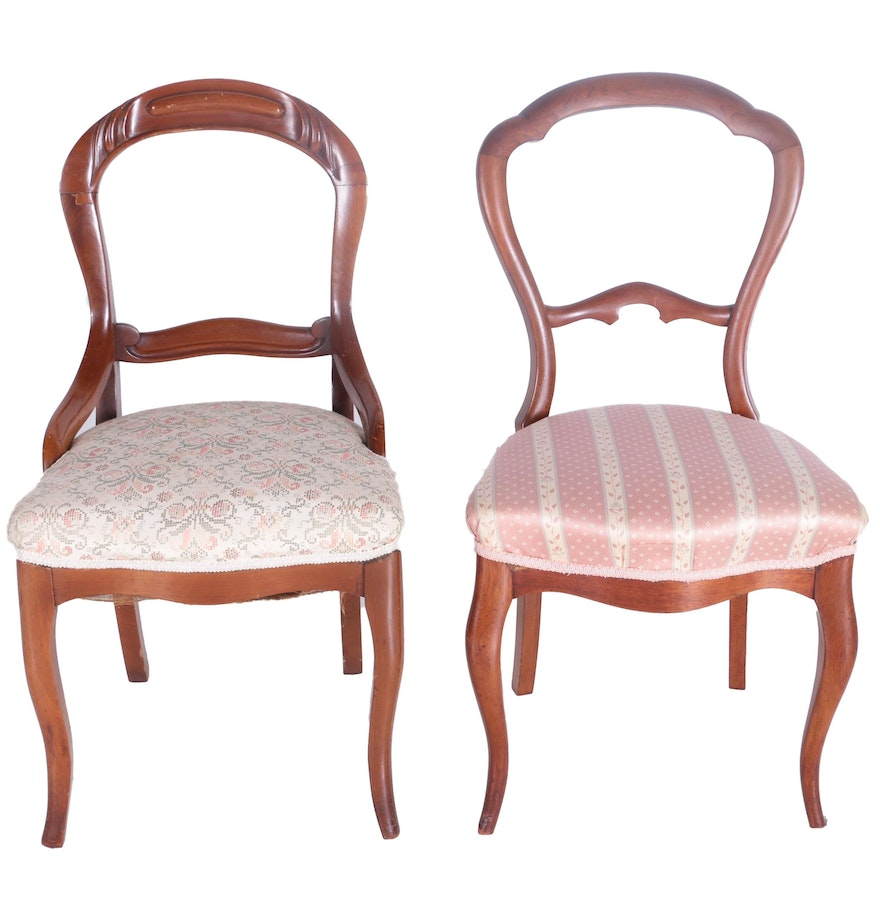 Victorian style chair - Victorian Style Balloon Back Chairs