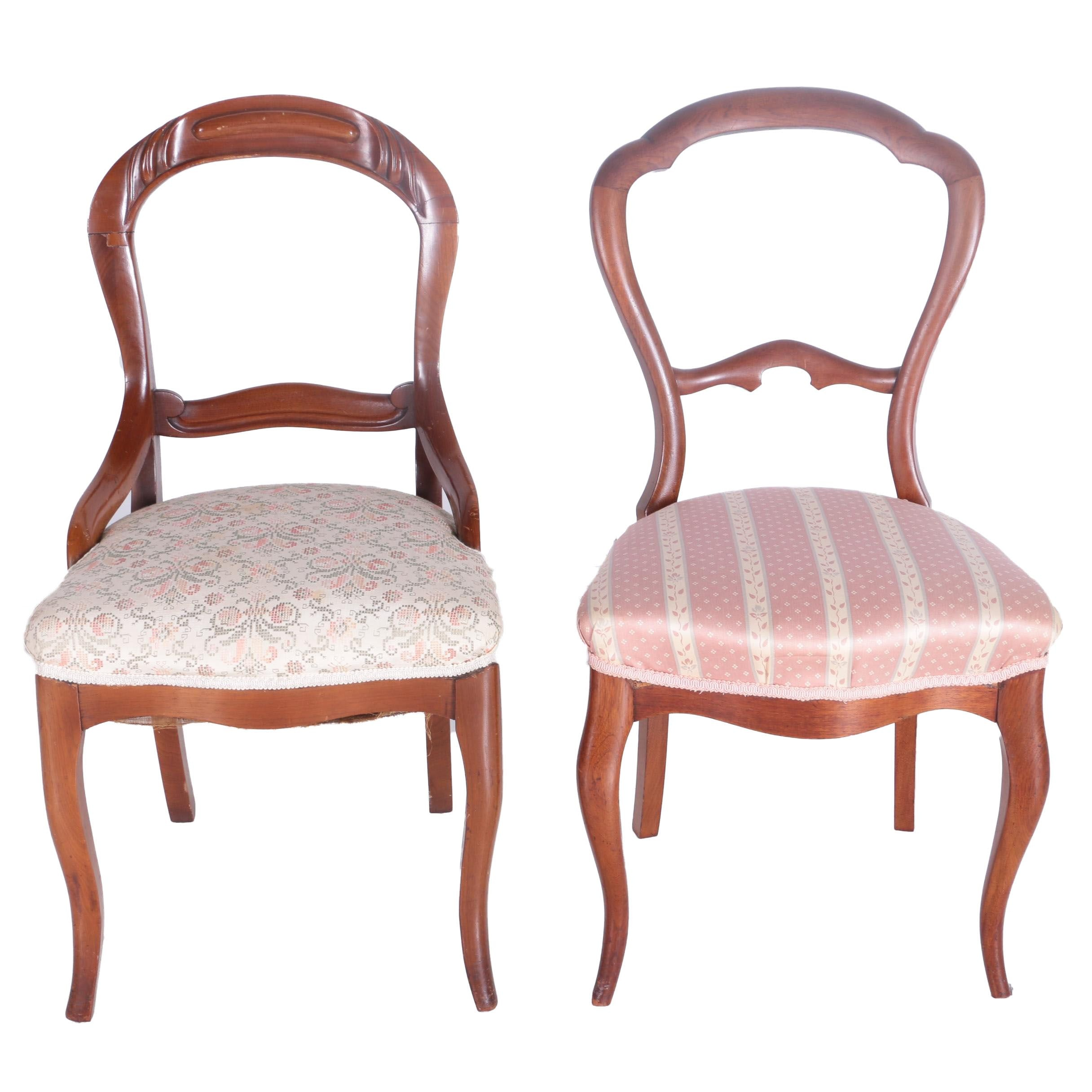 Victorian Style Balloon Back Chairs ...