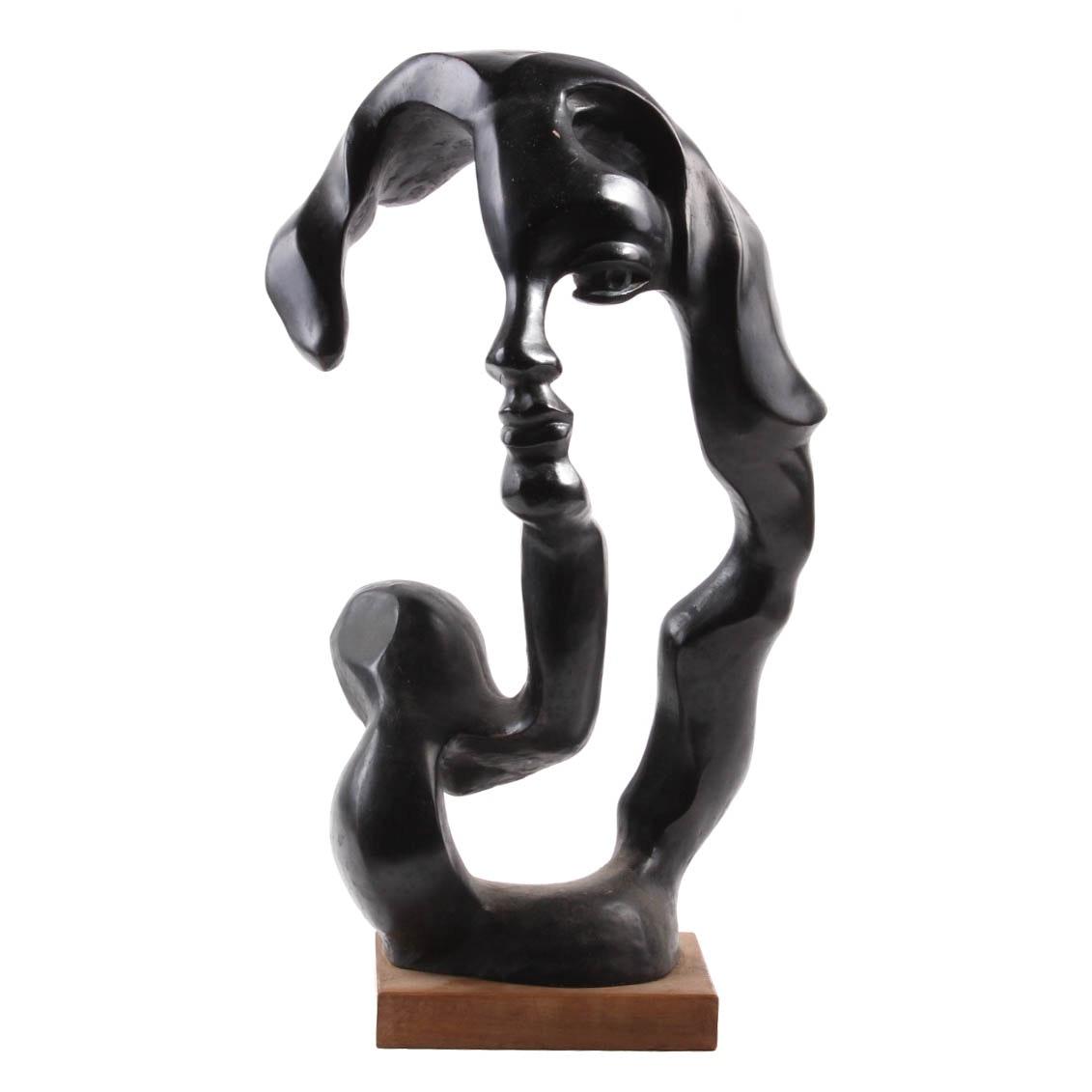 "Austin Productions After Klara Seever ""Portrait of a Woman"" Sculpture"