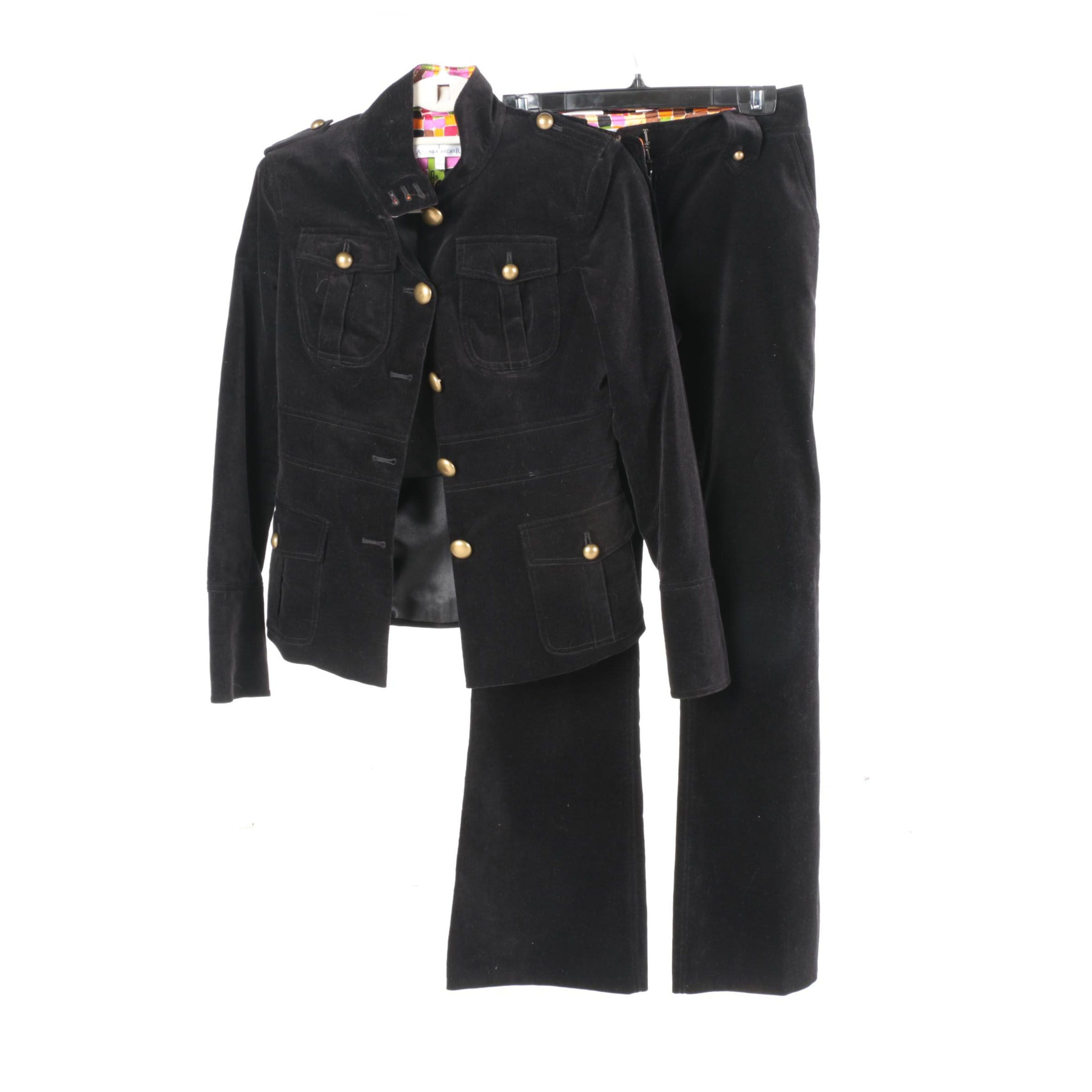 Women's Andrea Becker Black Jacket and Pants