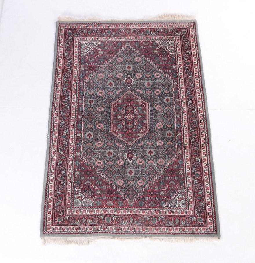 Persian Hand Knotted Kashan Silk And Wool Area Rug Ebth: Hand-Knotted Persian Afshari Bijar Area Rug : EBTH