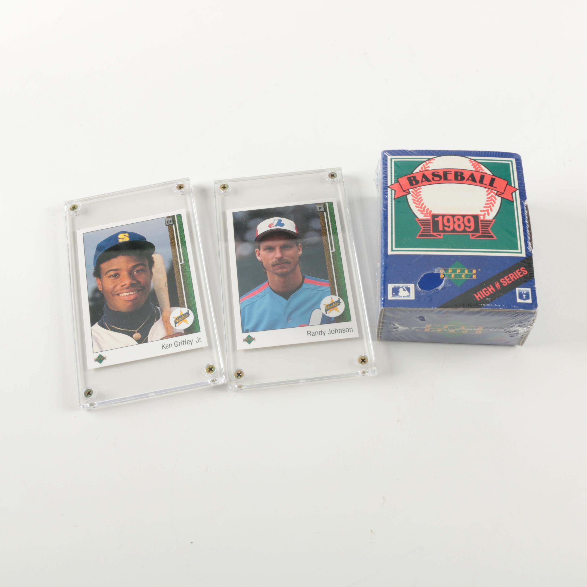 Ken Griffey Jr. and Randy Johnson Rookie Cards