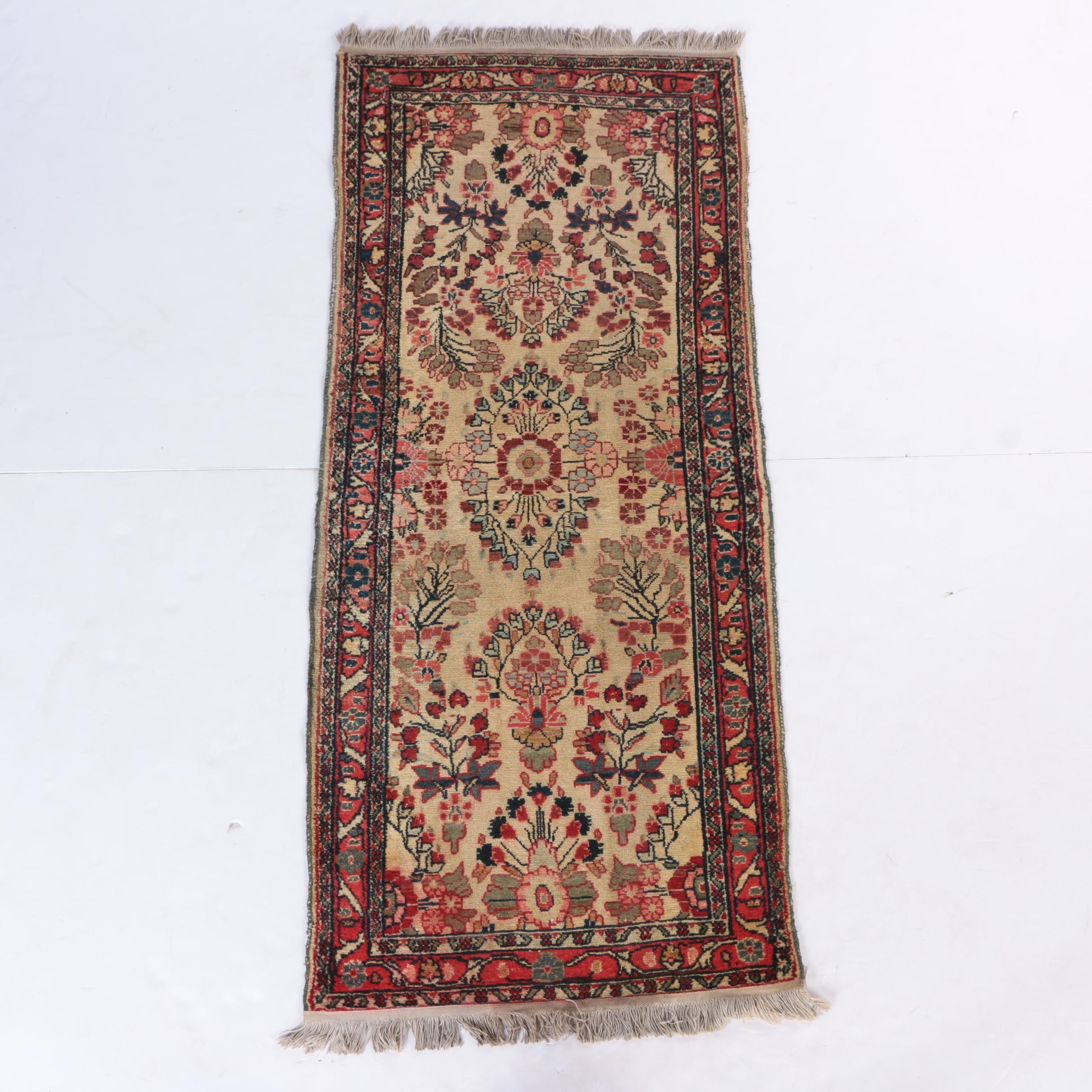 Semi-Antique Hand-Knotted Persian Sarouk Carpet Runner