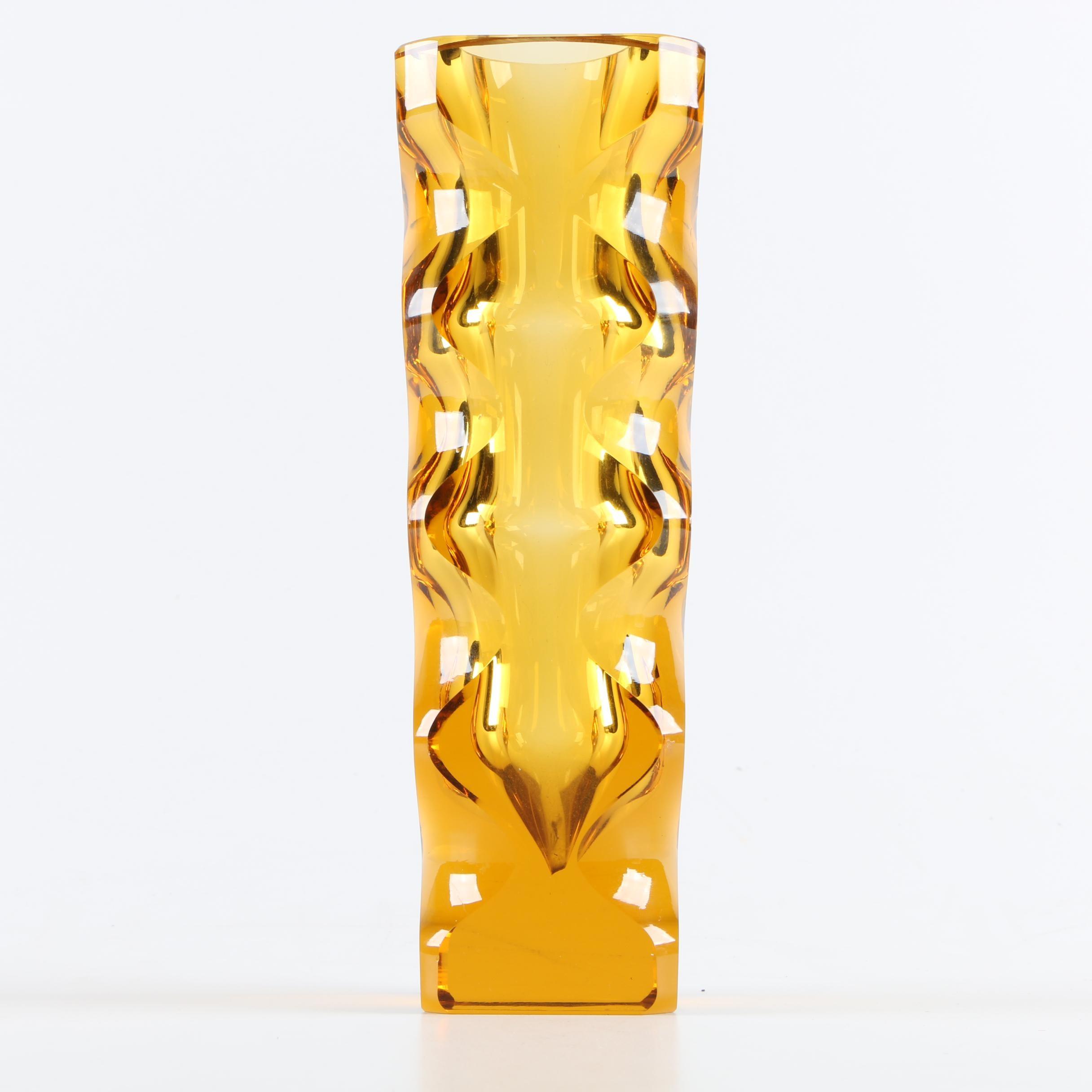 Oldrich Lipsky Bohemian Glass Vase