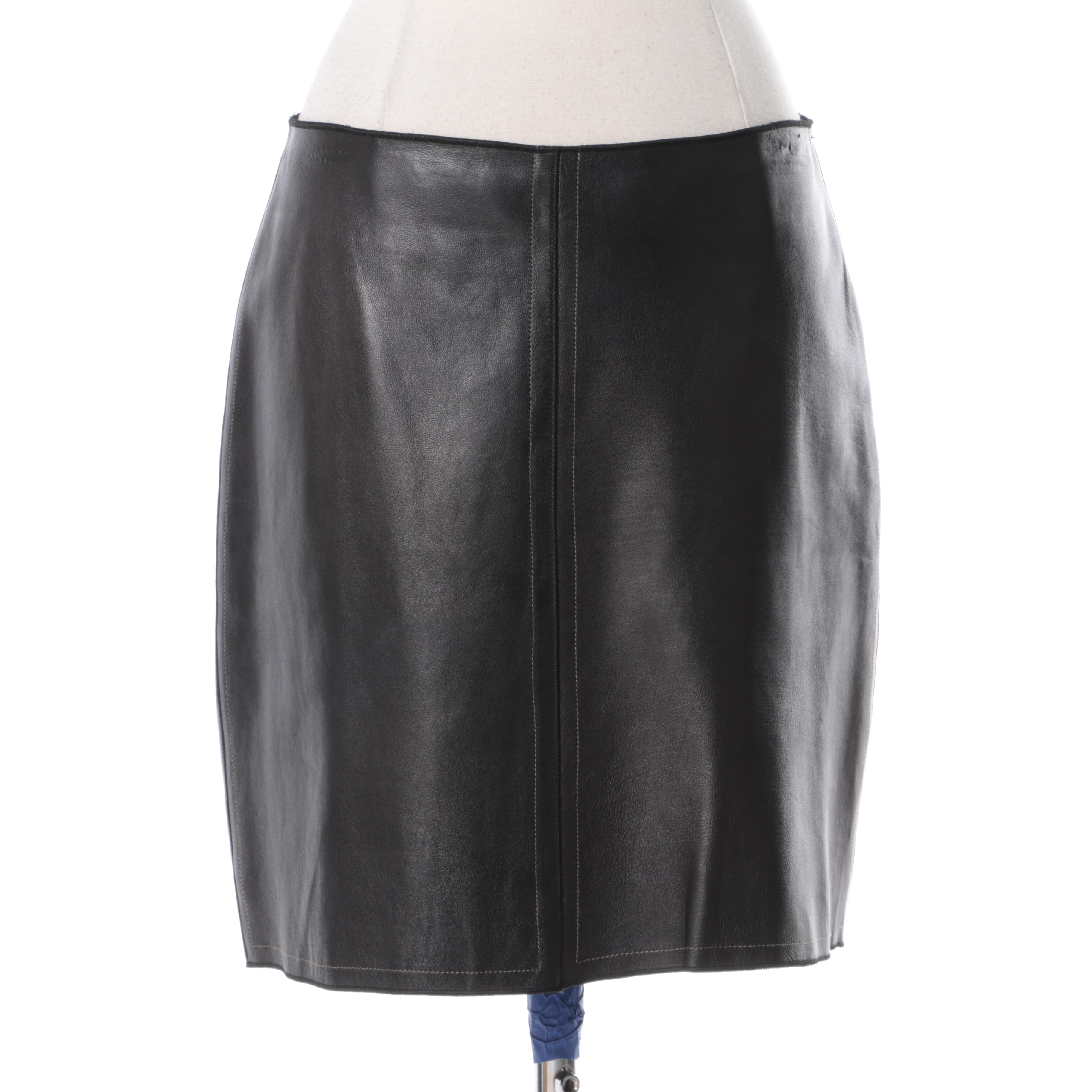 Women's Rozae Nichols Leather Skirt
