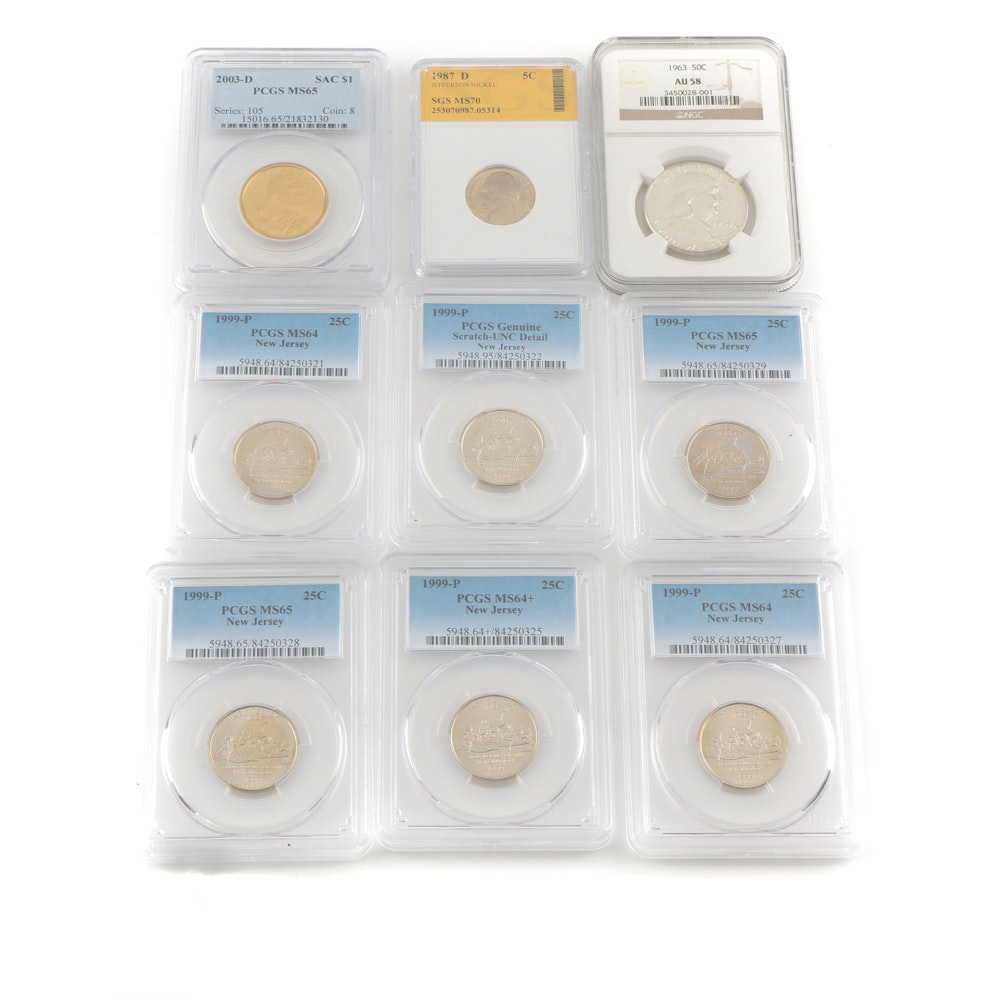Select Assortment of Graded and Encapsulated Modern Coinage
