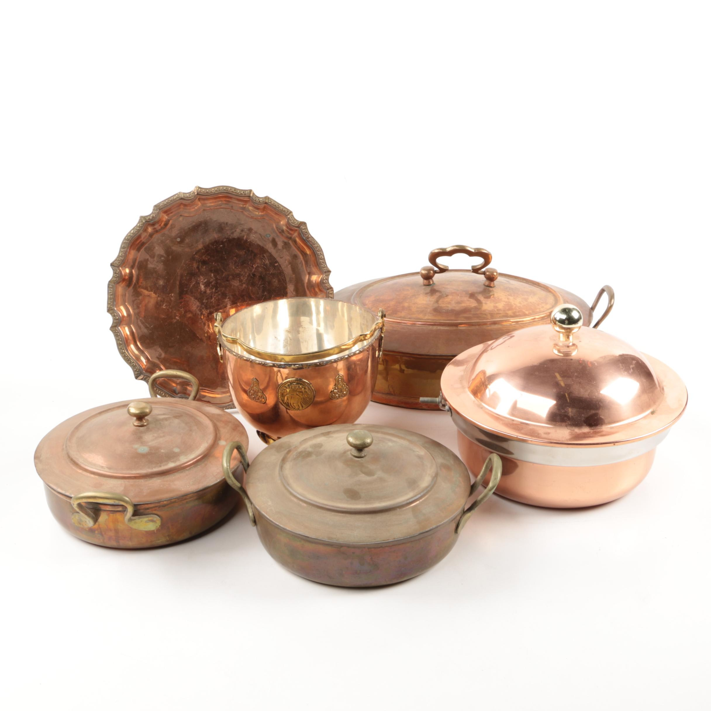 Vintage Copper and Brass Cookware from Pakistan