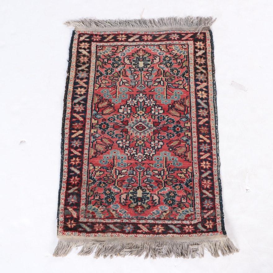 Hand Knotted Persian Hamadan Wool Area Rug Ebth: Hand-Knotted Hamadan Wool Accent Rug : EBTH