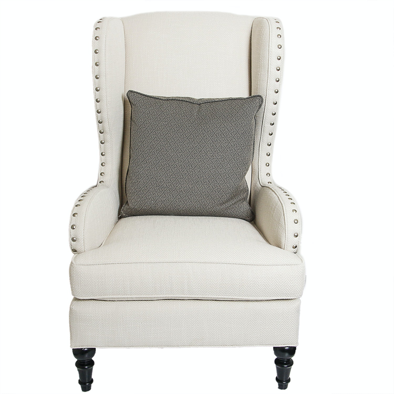 Contemporary Upholstered Wingback Chair