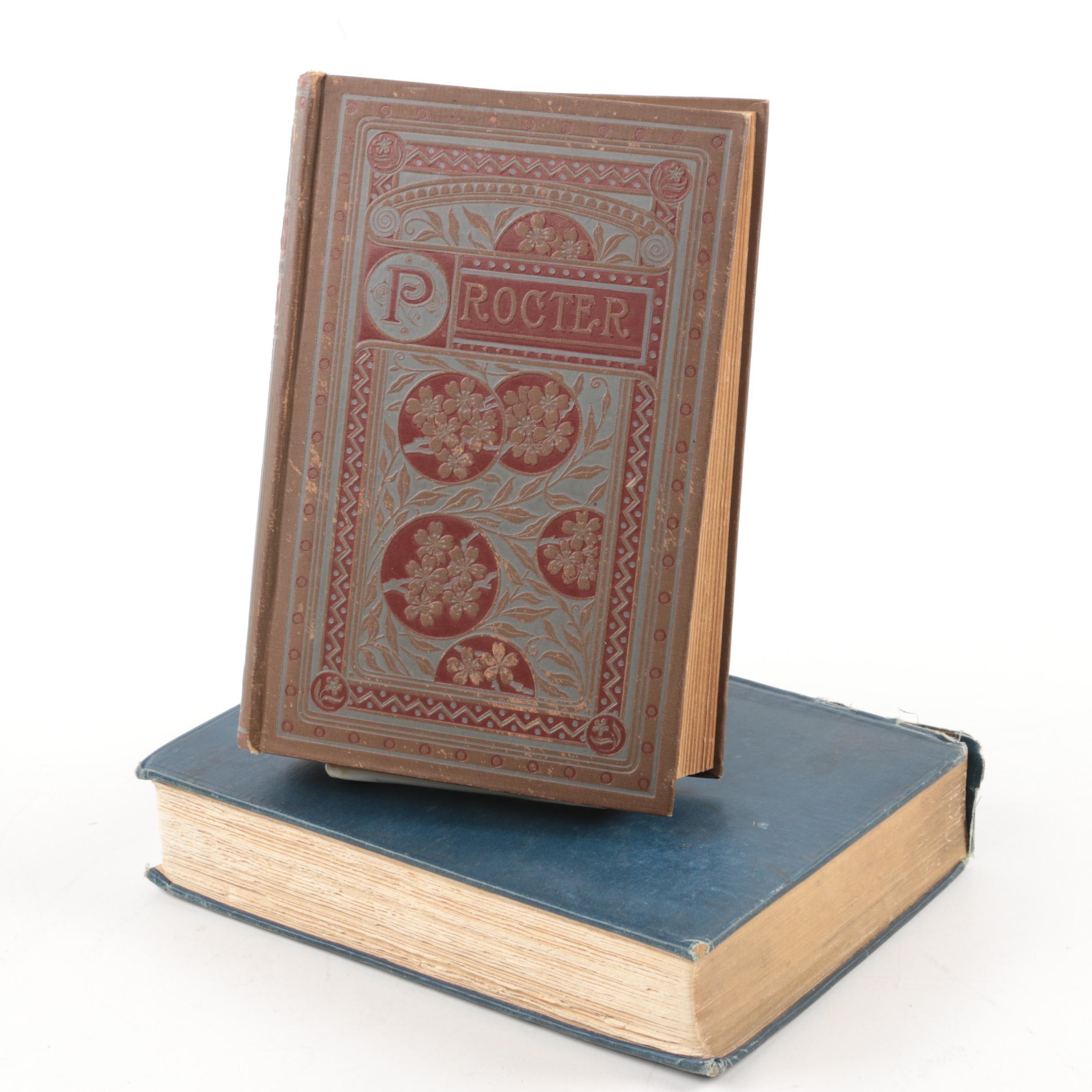Pair of Antique Poetry Books