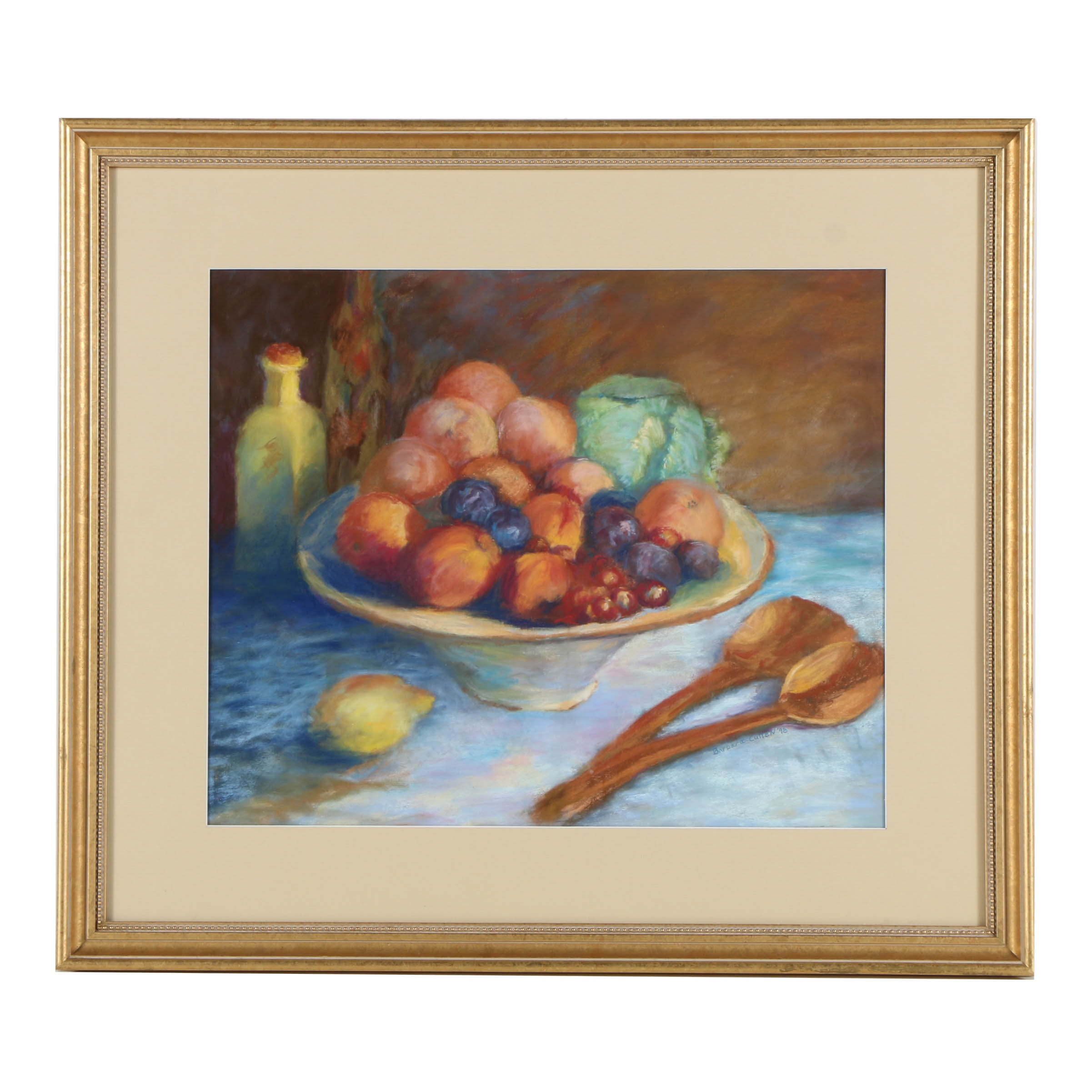 Barbara Cullen Pastel Drawing on Paper of a Still Life