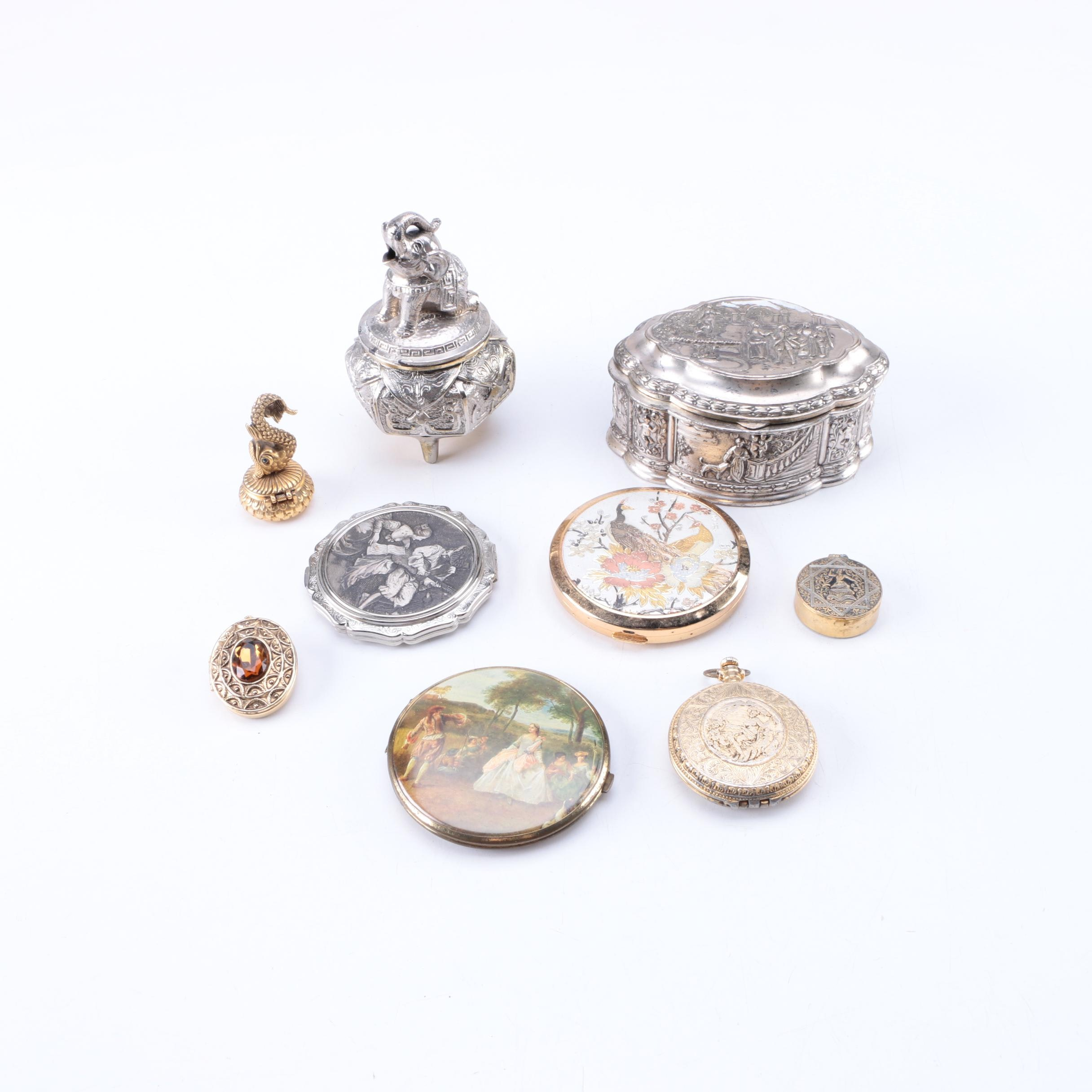 Trinket Boxes and Compacts