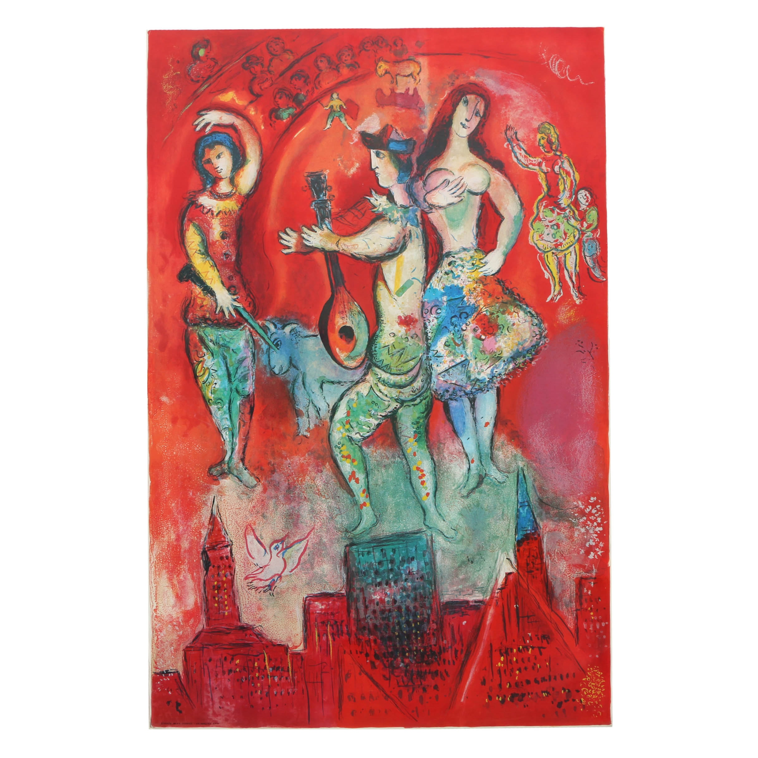 """After Marc Chagall Offset Lithograph on Paper """"Carmen"""""""