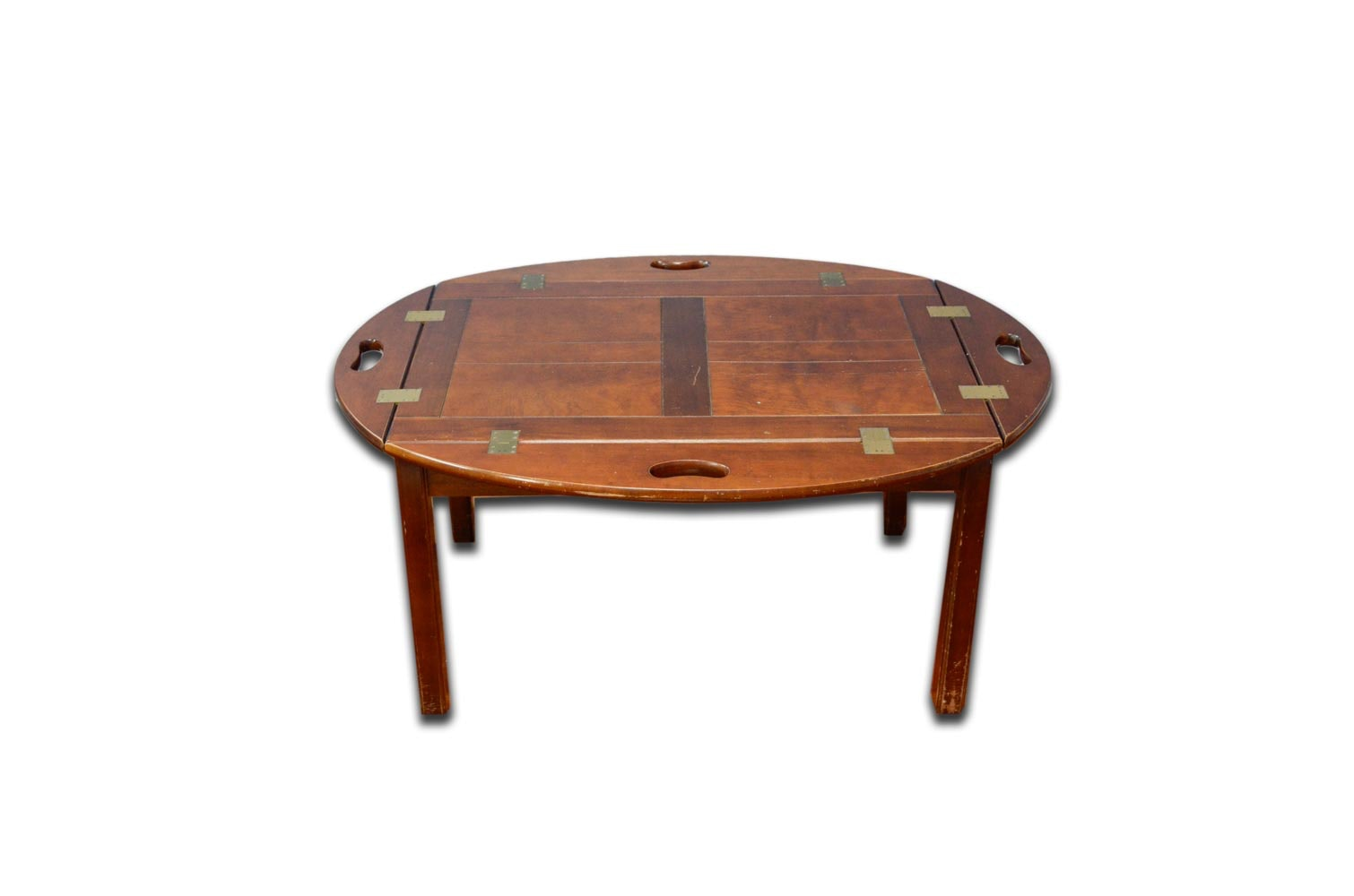 Mahogany Finished Butler's Tray Coffee Table